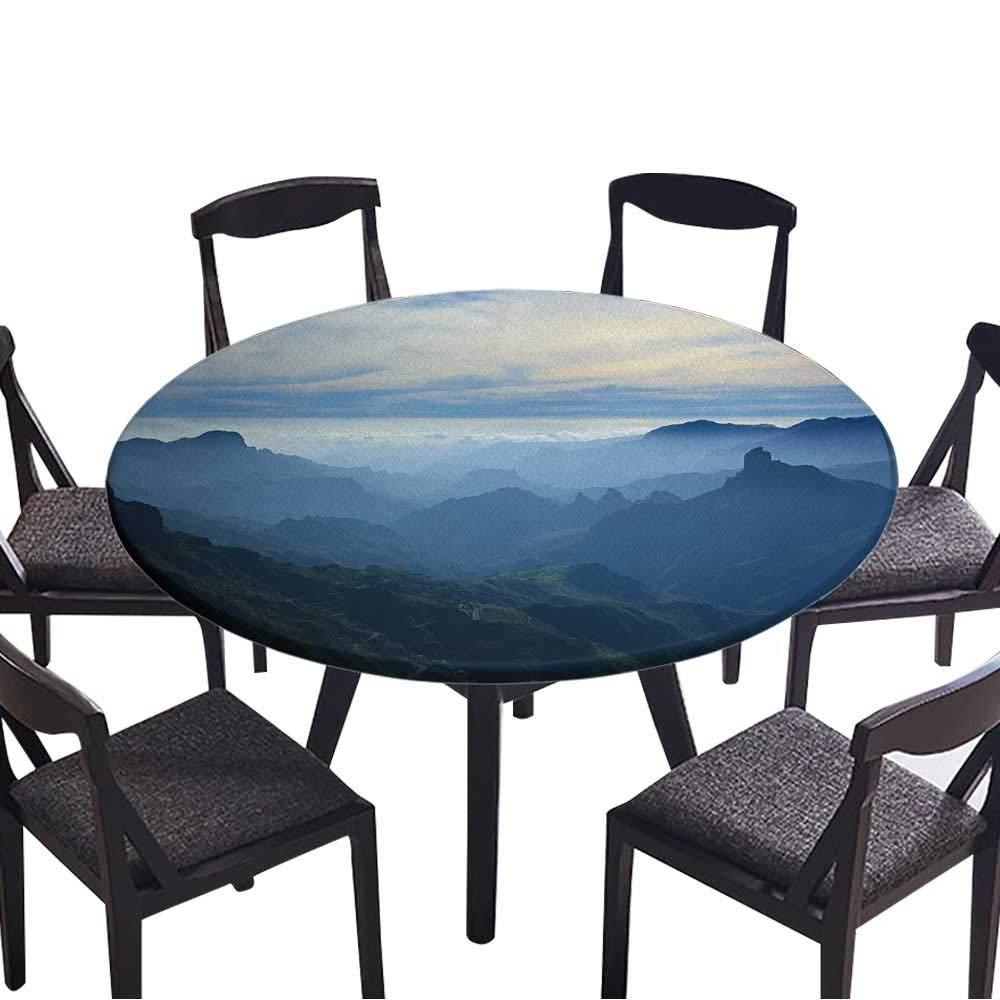 Tejeda 5 Piece Dining Sets Pertaining To Widely Used Amazon: Simple Modern Round Table Cloth Gran Canaria,caldera De (View 15 of 20)