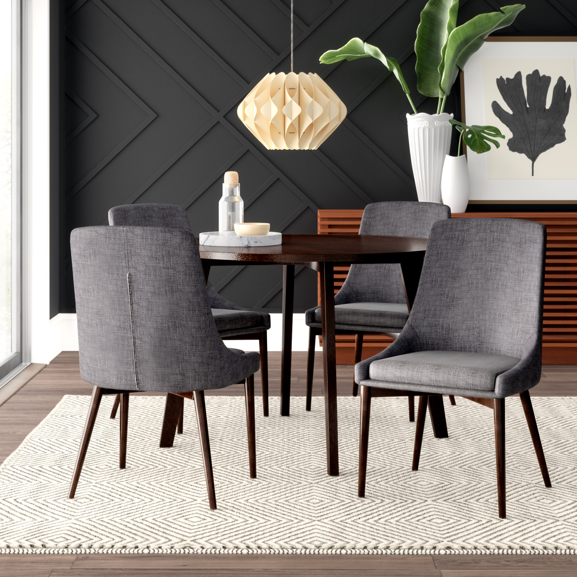 Tejeda 5 Piece Dining Sets With Fashionable Mercury Row Blaisdell 5 Piece Dining Set (View 16 of 20)