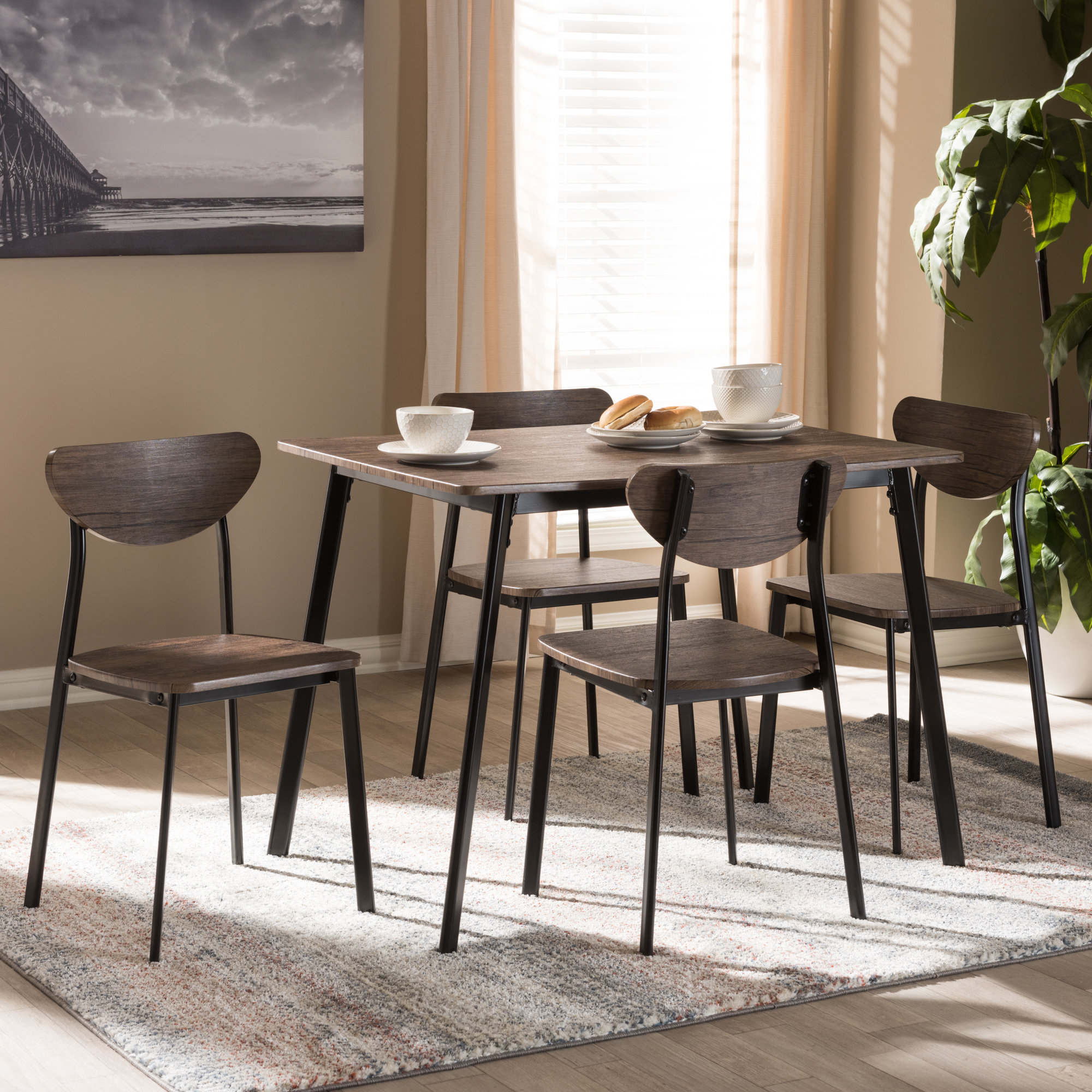 Tejeda 5 Piece Dining Sets With Regard To Trendy Details About Union Rustic Tejeda 5 Piece Dining Set (View 17 of 20)
