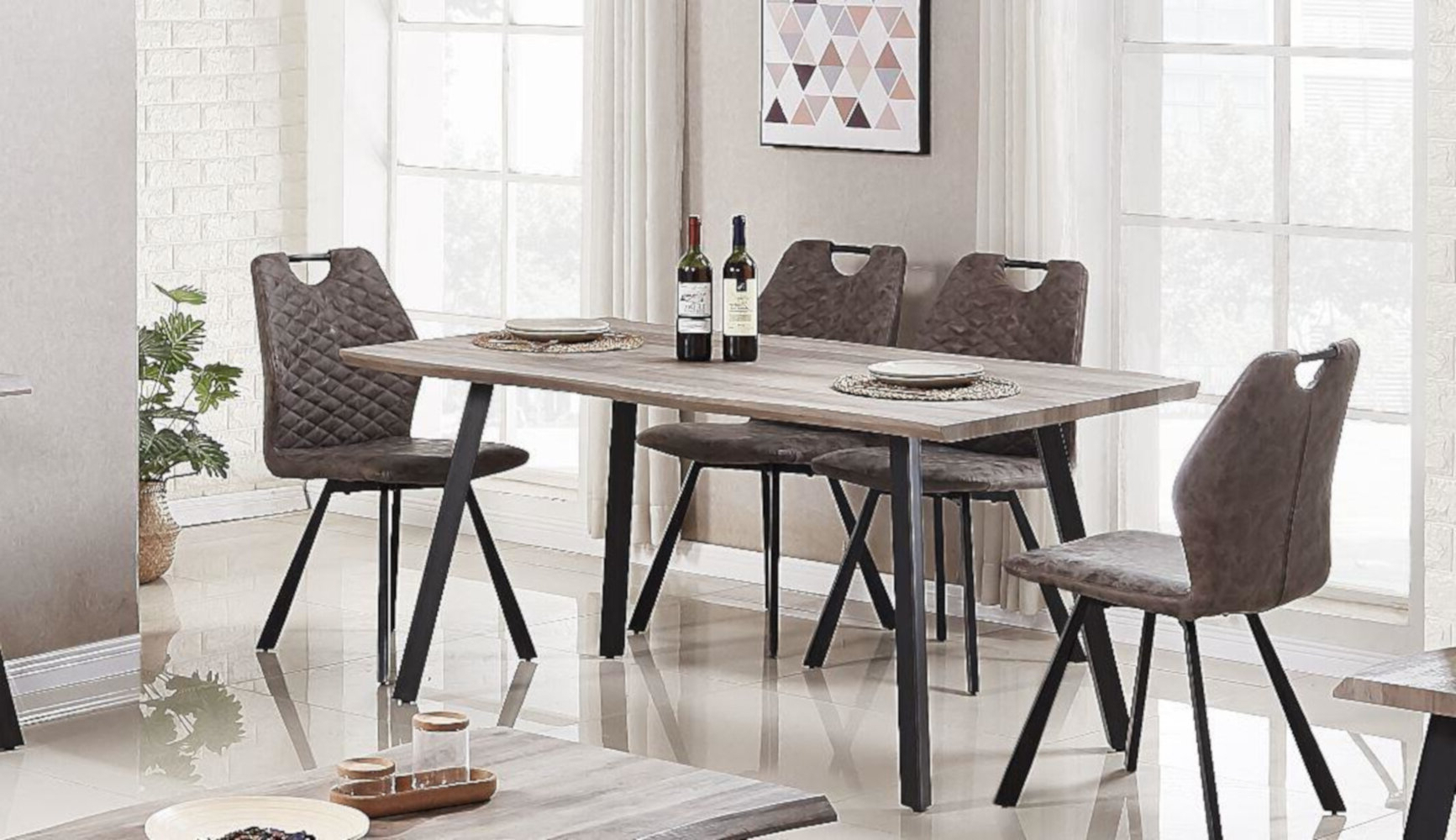 Telauges 5 Piece Dining Sets With Regard To Most Recent Javen Live Edge 5 Piece Dining Set (View 17 of 20)