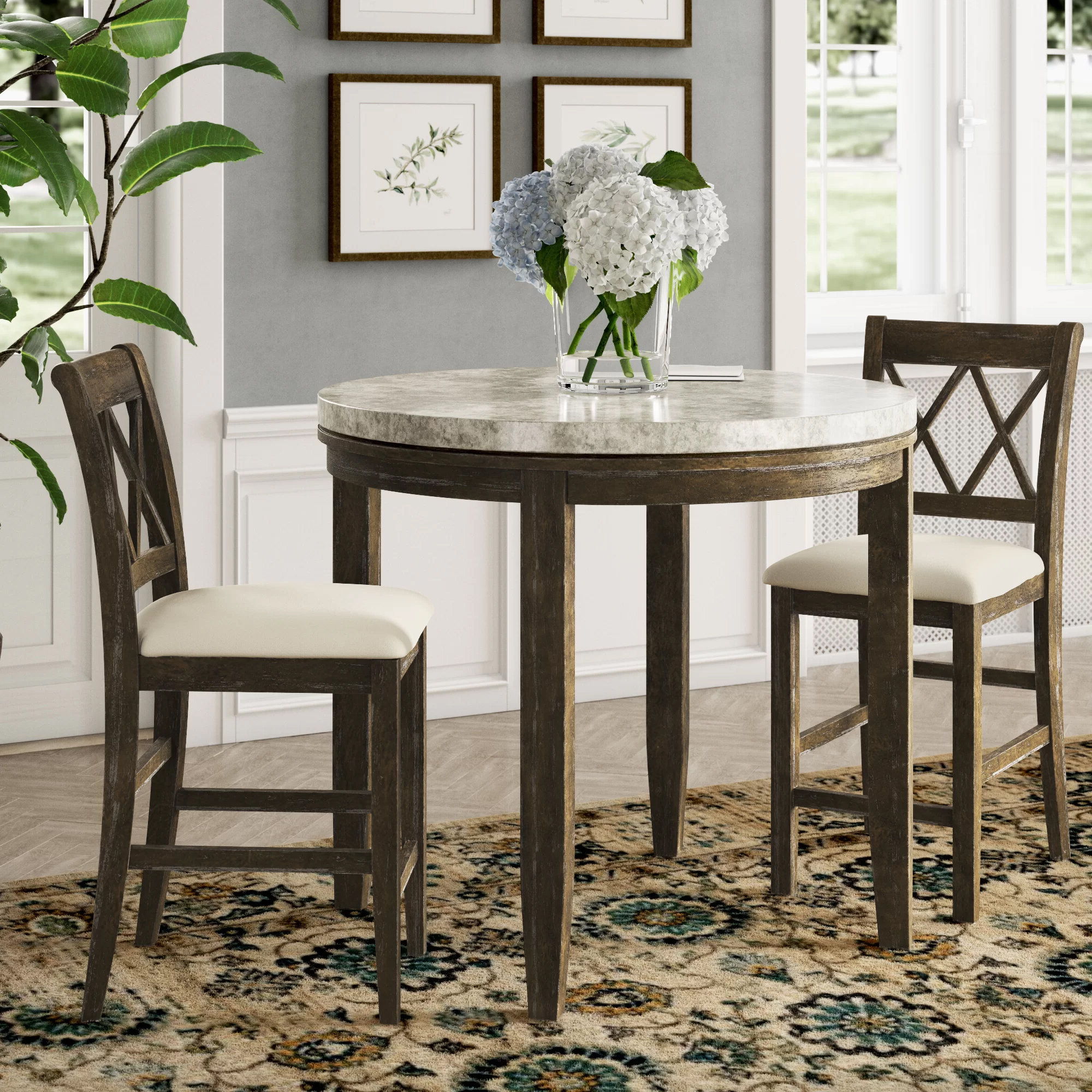 Tenney 3 Piece Counter Height Dining Sets Throughout Current Clearmont 3 Piece Dining Set (Gallery 19 of 20)