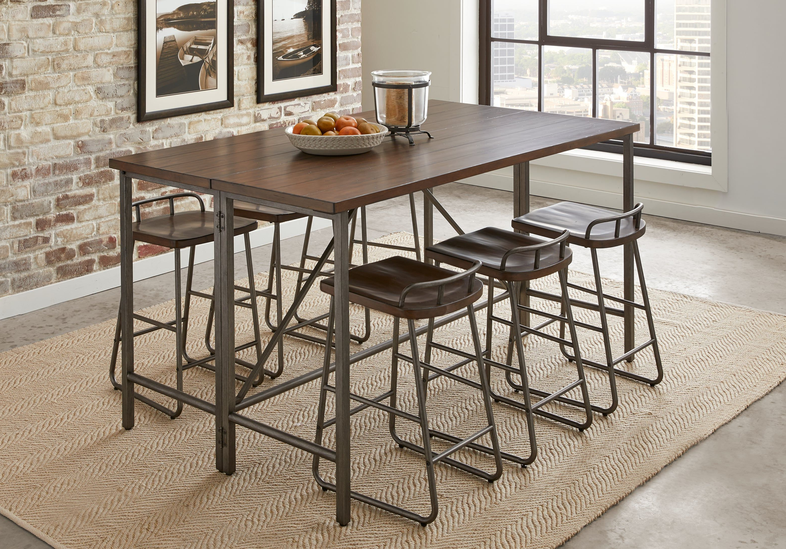 Tenney 3 Piece Counter Height Dining Sets With Best And Newest Bridgetown Brown 5 Pc Counter Height Dining Set In 2019 (Gallery 20 of 20)