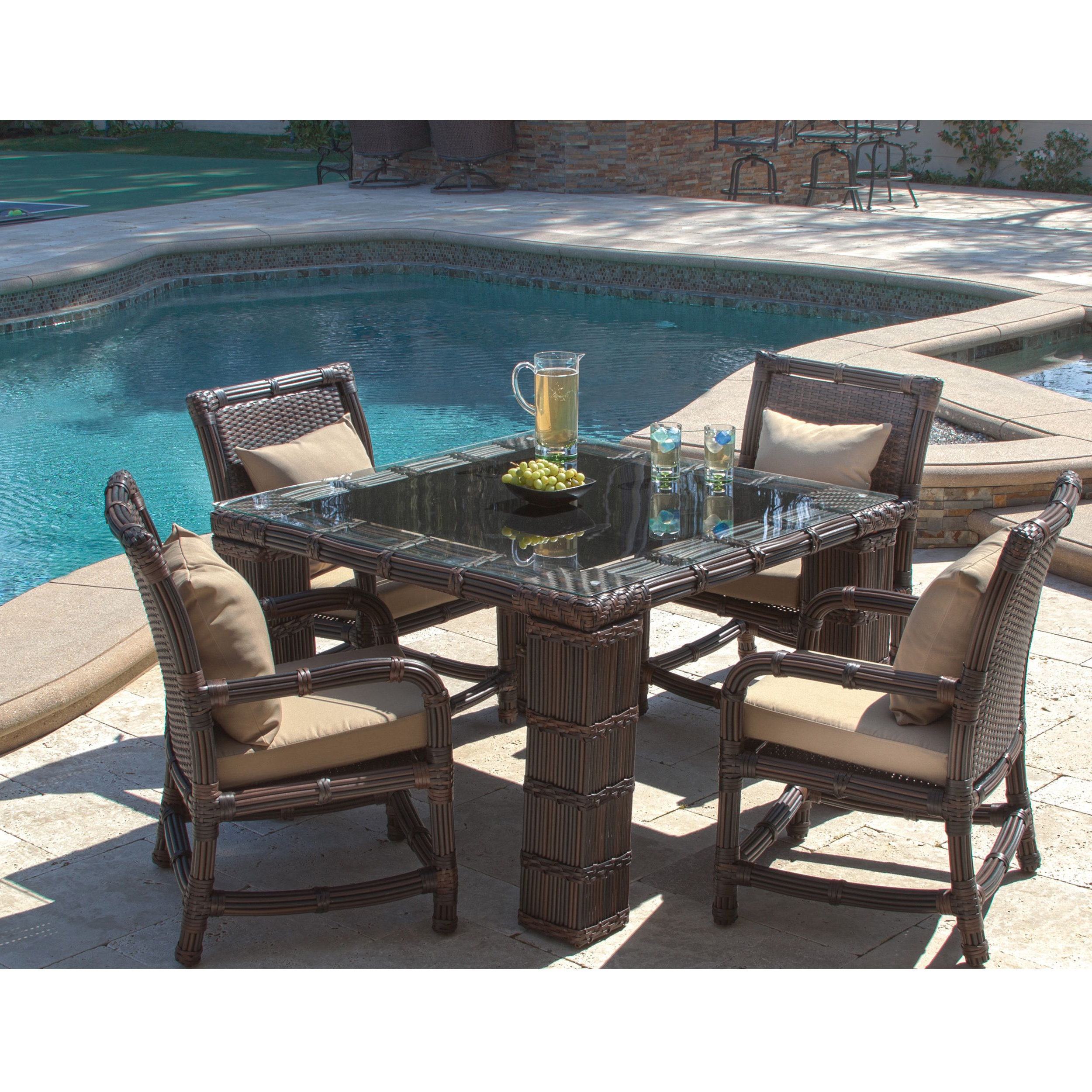 The St. Croix Rounded Outdoor Dining Set Adds A Unique Twist To Your With Newest Saintcroix 3 Piece Dining Sets (Gallery 19 of 20)