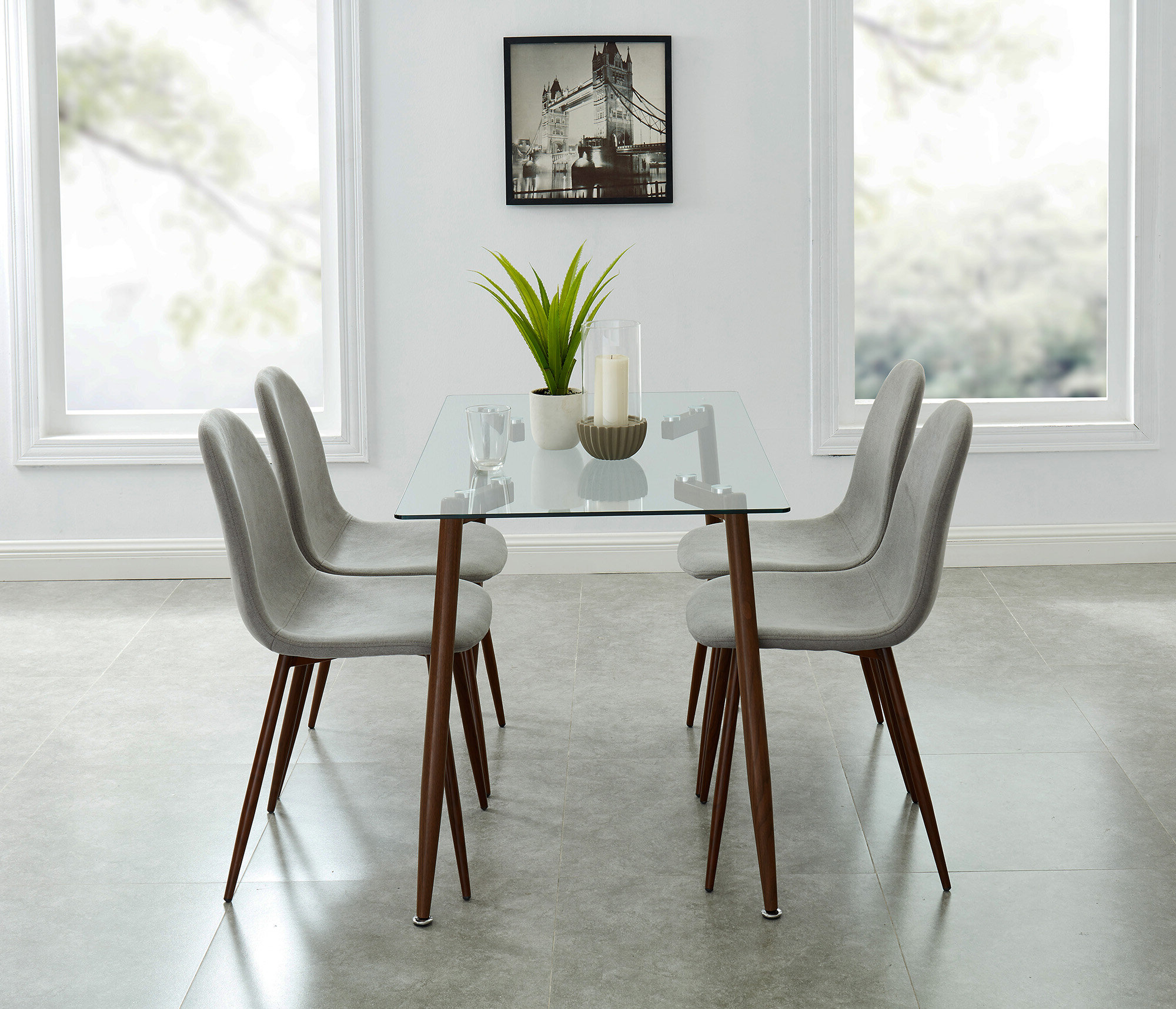 Travon 5 Piece Dining Sets Throughout Most Up To Date Madonna Contemporary 5 Piece Dining Set (View 14 of 20)