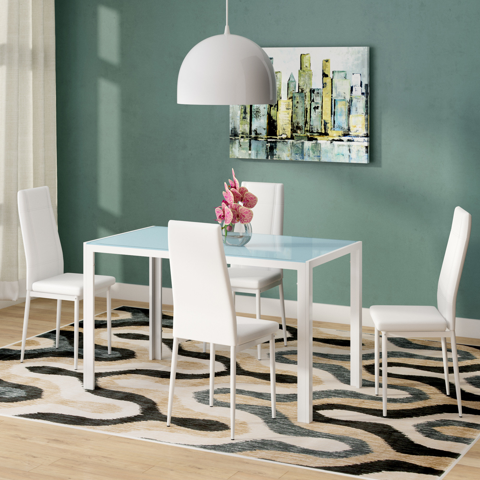 Travon 5 Piece Dining Sets With Regard To Latest Dimattia 5 Piece Dining Set (View 16 of 20)