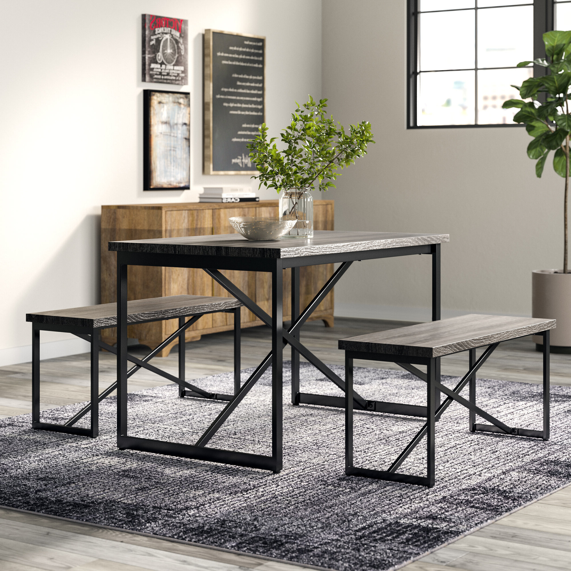 Trendy Bearden 3 Piece Dining Set For Bearden 3 Piece Dining Sets (Gallery 2 of 20)
