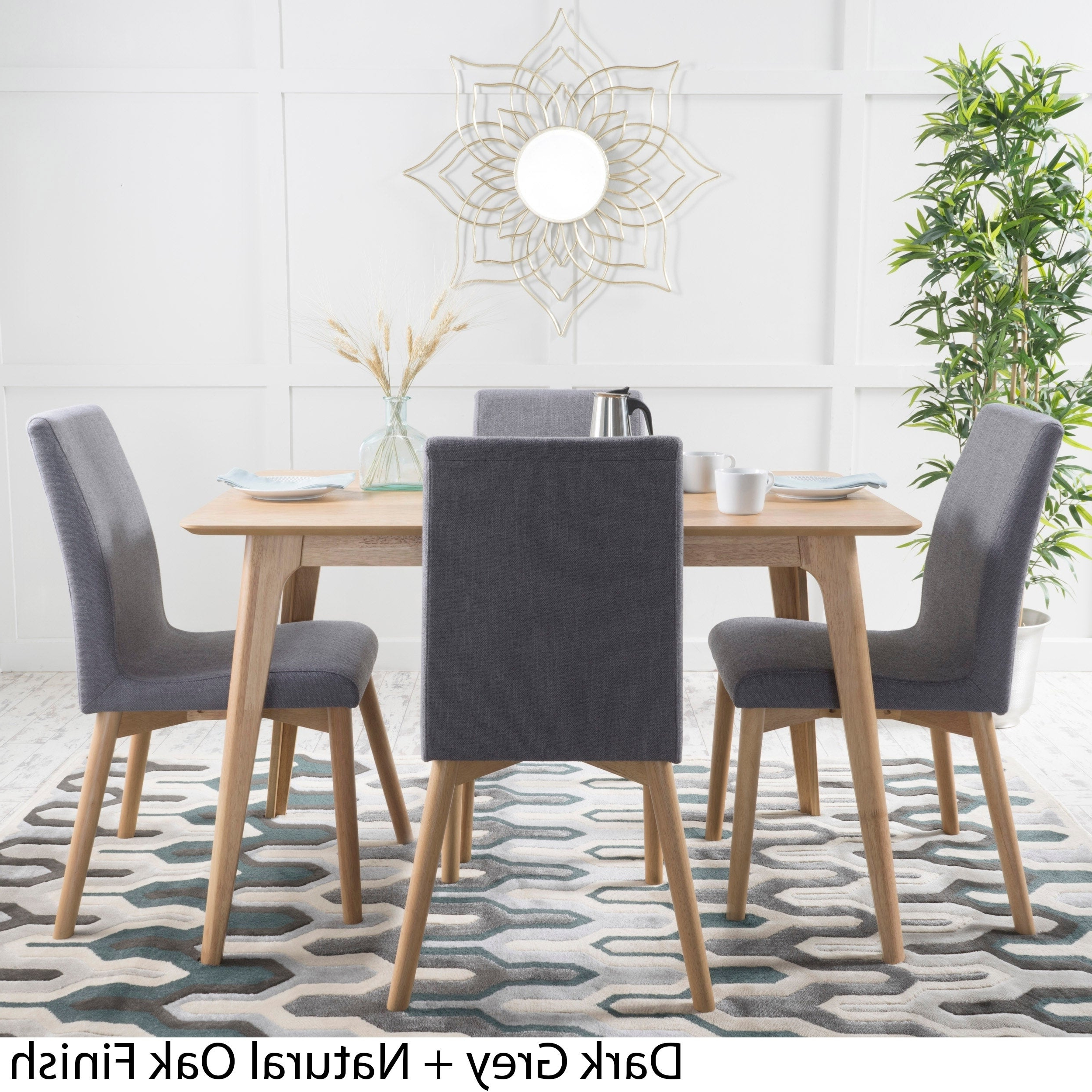 Trendy Calla 5 Piece Dining Sets Within Orrin 5 Piece Wood Rectangular Dining Setchristopher Knight Home (View 18 of 20)
