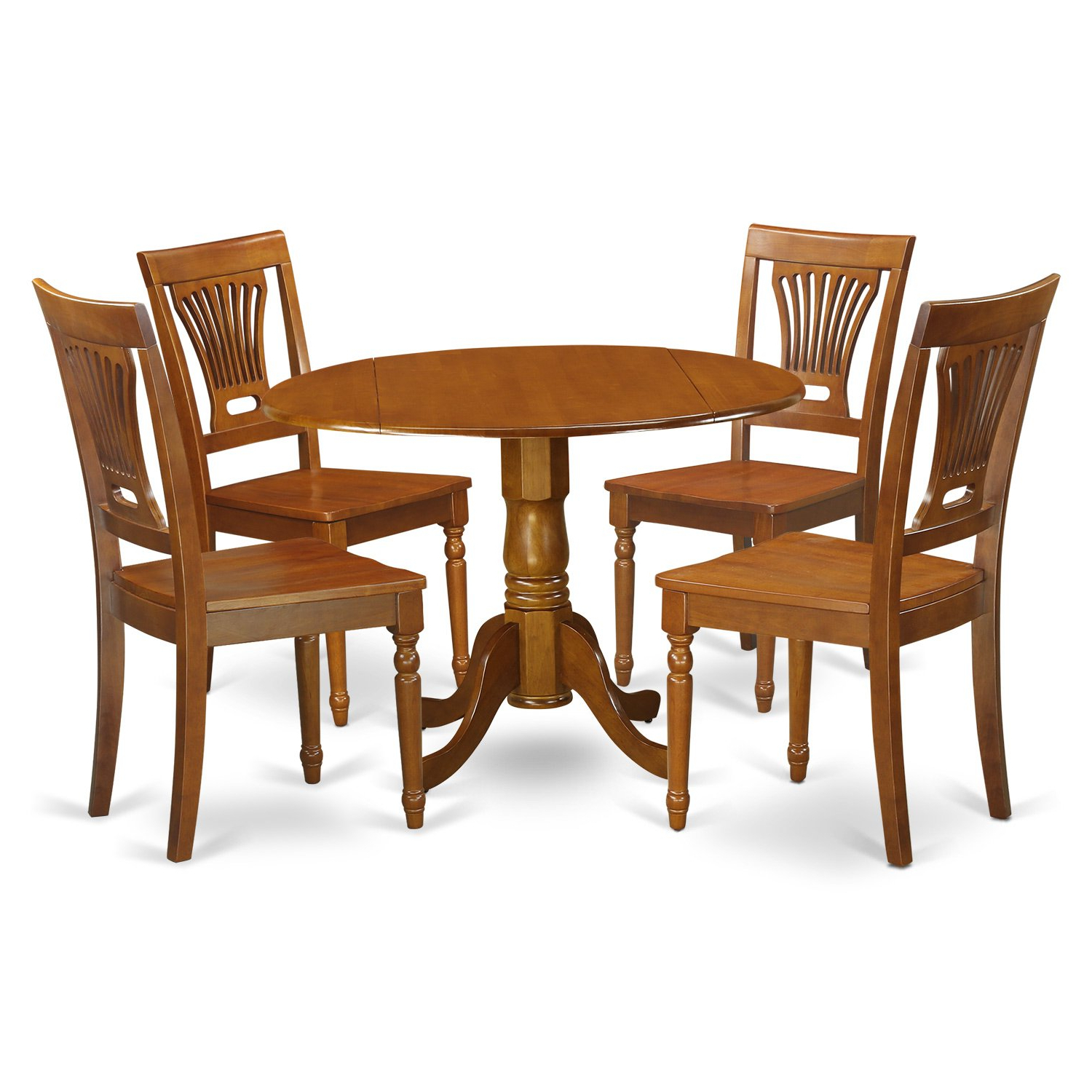 Trendy East West Furniture Dlpl5 Sbr W 5 Piece Kitchen Nook Dining Table Set,  Saddle Brown Finish Within 5 Piece Breakfast Nook Dining Sets (View 16 of 20)