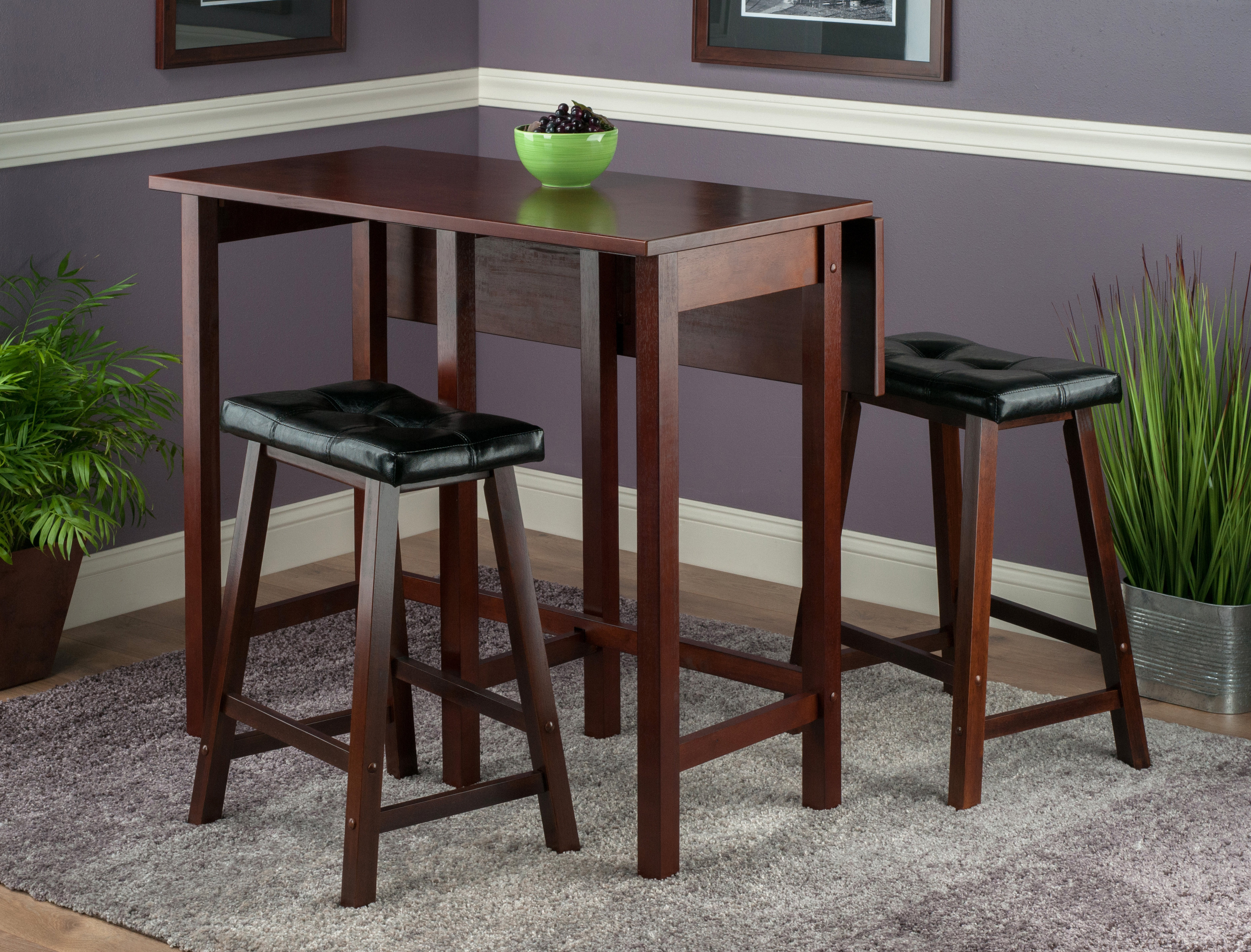 Trendy Lonon 3 Piece Dining Sets Inside Bettencourt 3 Piece Counter Height Dining Set (View 10 of 20)