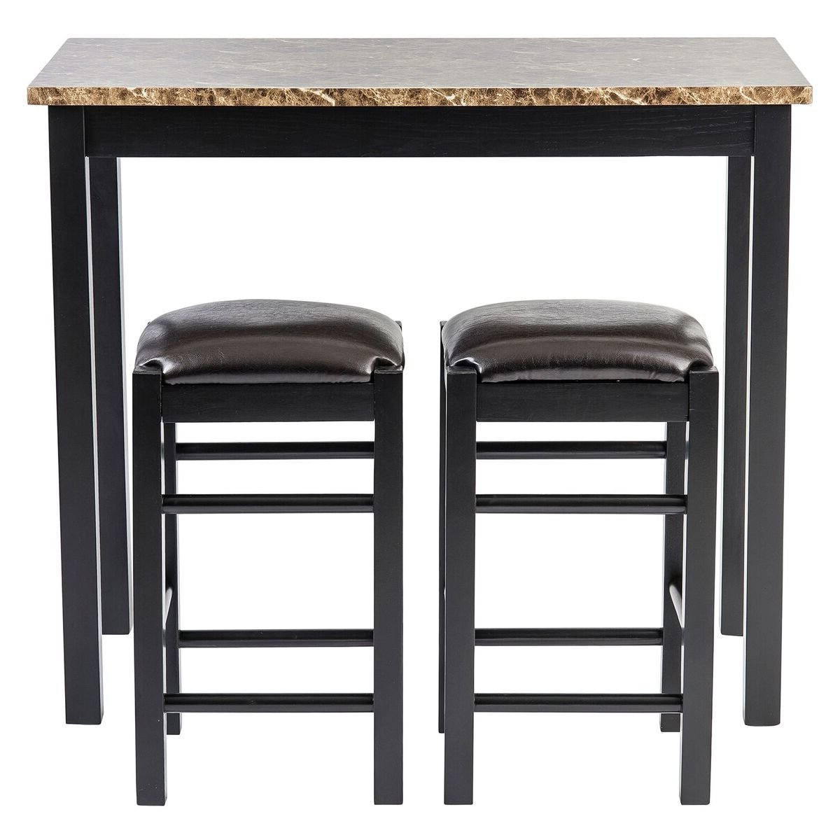 Trendy Moorehead 3 Piece Counter Height Dining Set Within Mitzel 3 Piece Dining Sets (View 19 of 20)