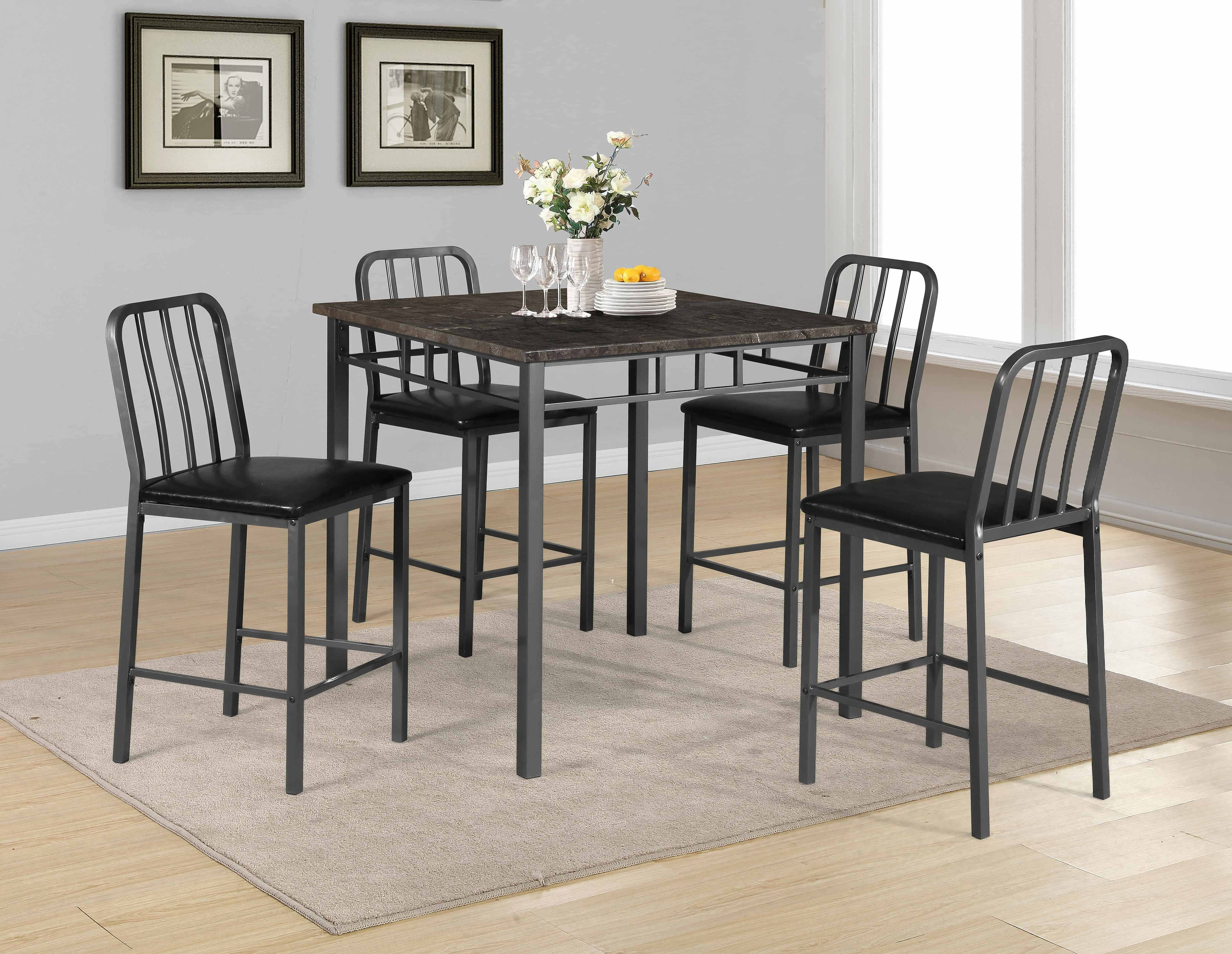 Trendy Moorehead 3 Piece Counter Height Dining Sets With Destiney 5 Piece Pub Table Set (Gallery 7 of 20)