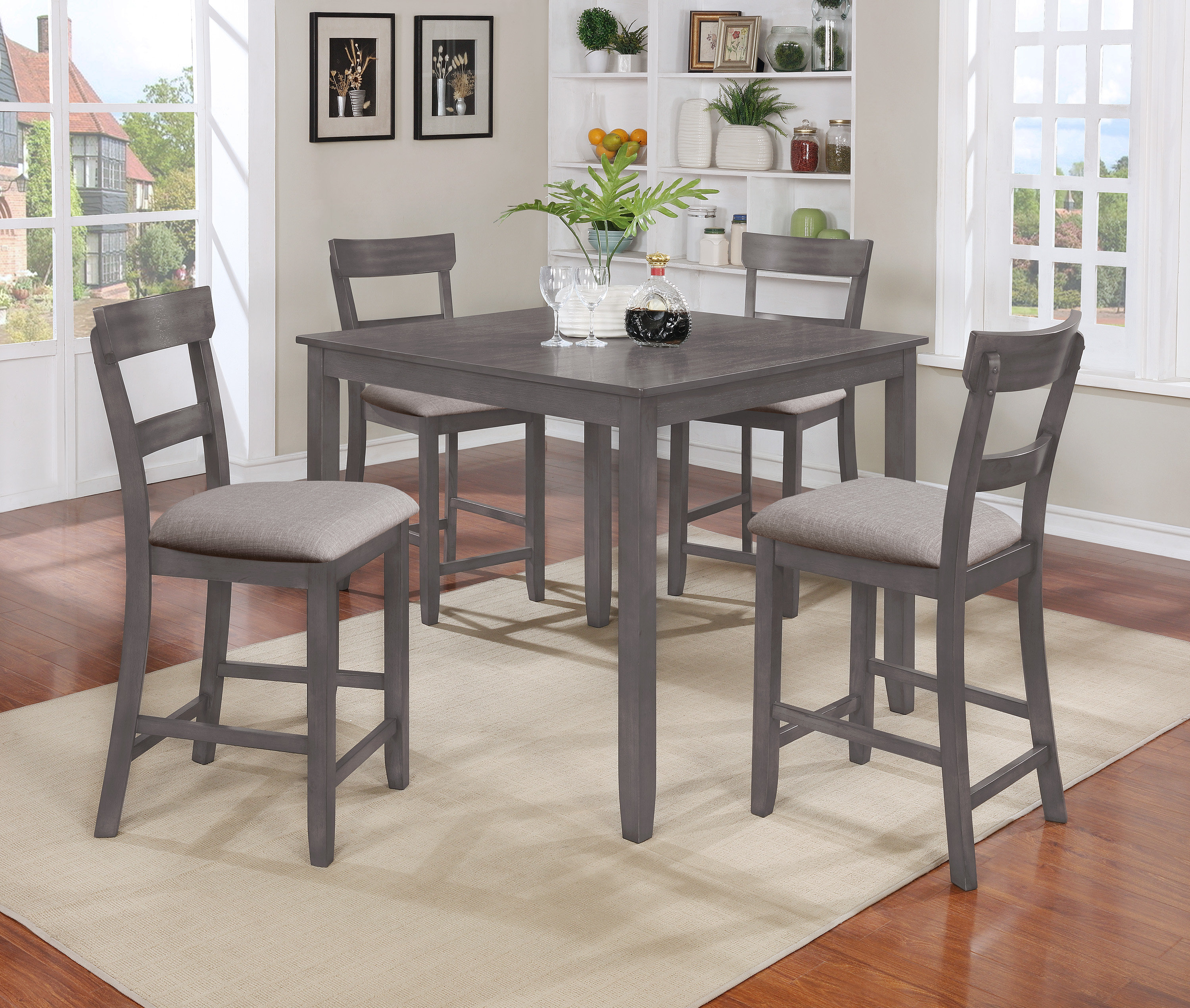 Trendy Sheetz 3 Piece Counter Height Dining Sets Throughout Crown Mark Henderson 5 Piece Counter Height Dining Set (Gallery 20 of 20)