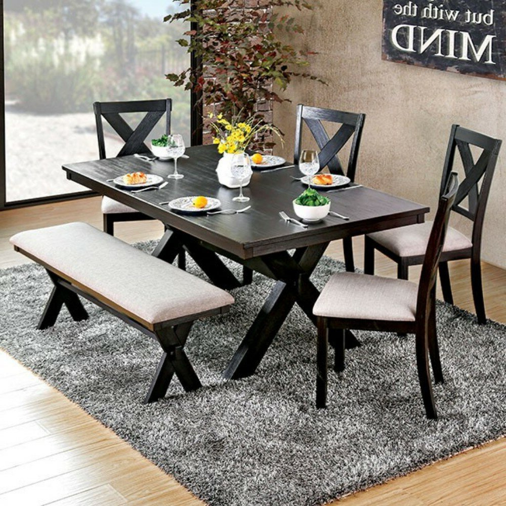 Trendy Turnalar 5 Piece Dining Sets For Dugger Transitional 7 Piece Solid Wood Dining Set (Gallery 14 of 20)
