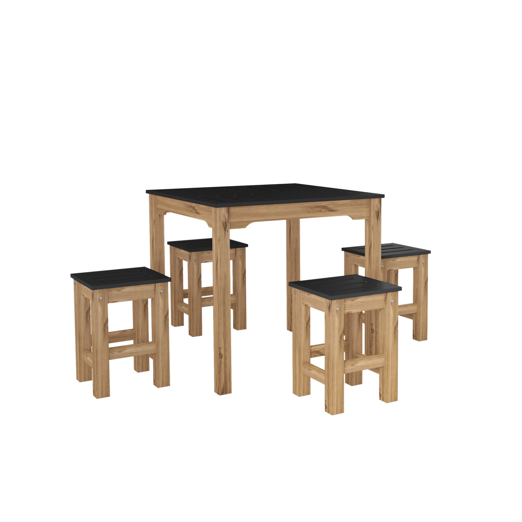 Trendy Yedinak 5 Piece Solid Wood Dining Sets With Wiggin 5 Piece Solid Wood Dining Set (View 14 of 20)