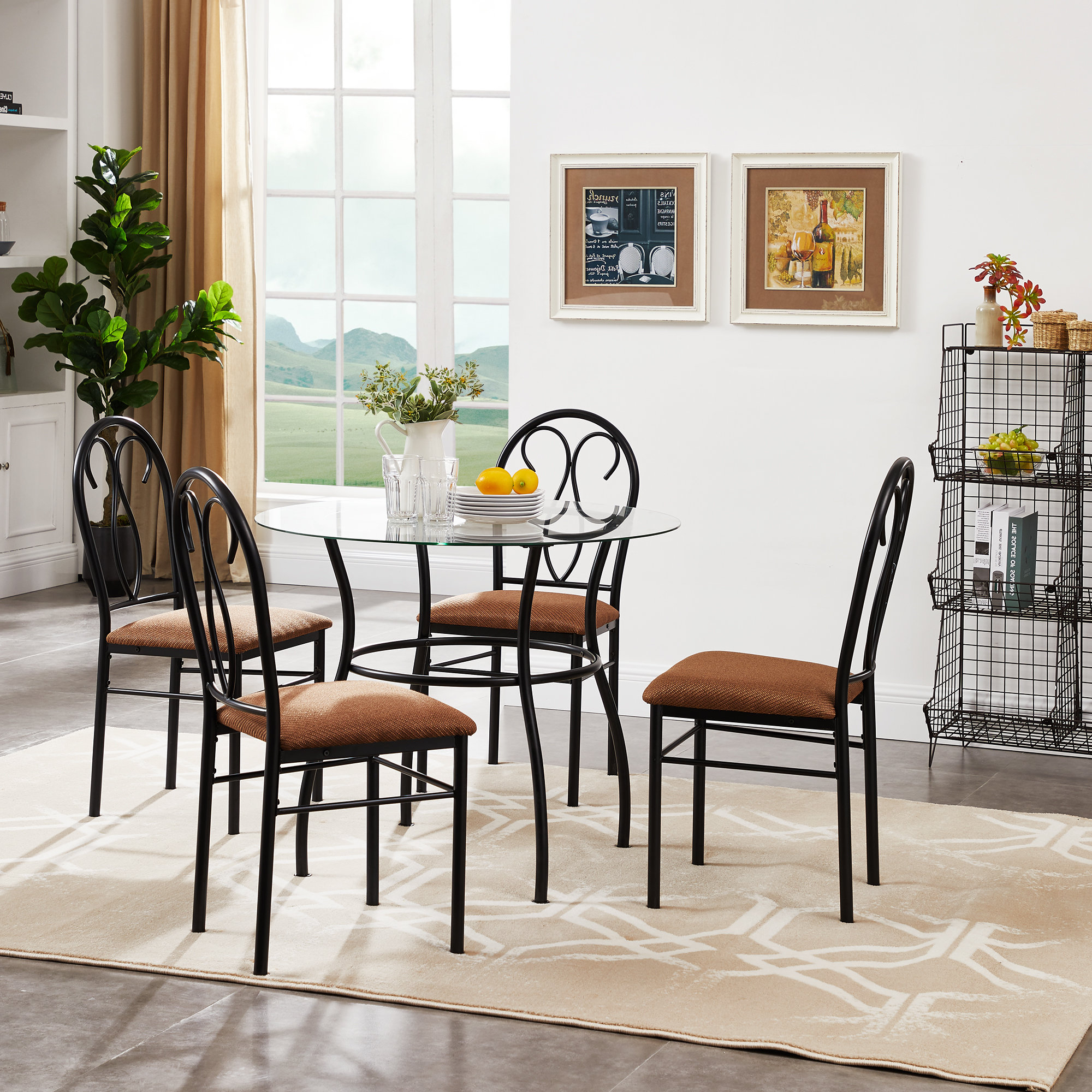 Turnalar 5 Piece Dining Sets In Well Known Riceboro 5 Piece Dining Set (Gallery 11 of 20)