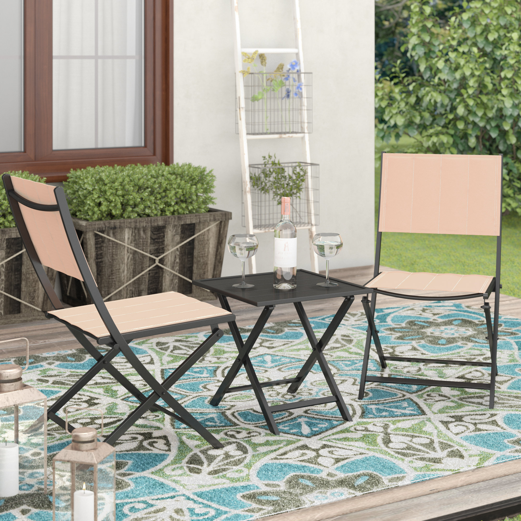 Turnalar 5 Piece Dining Sets Throughout Most Up To Date Turnalar 3 Piece Rattan Conversation Set (View 9 of 20)