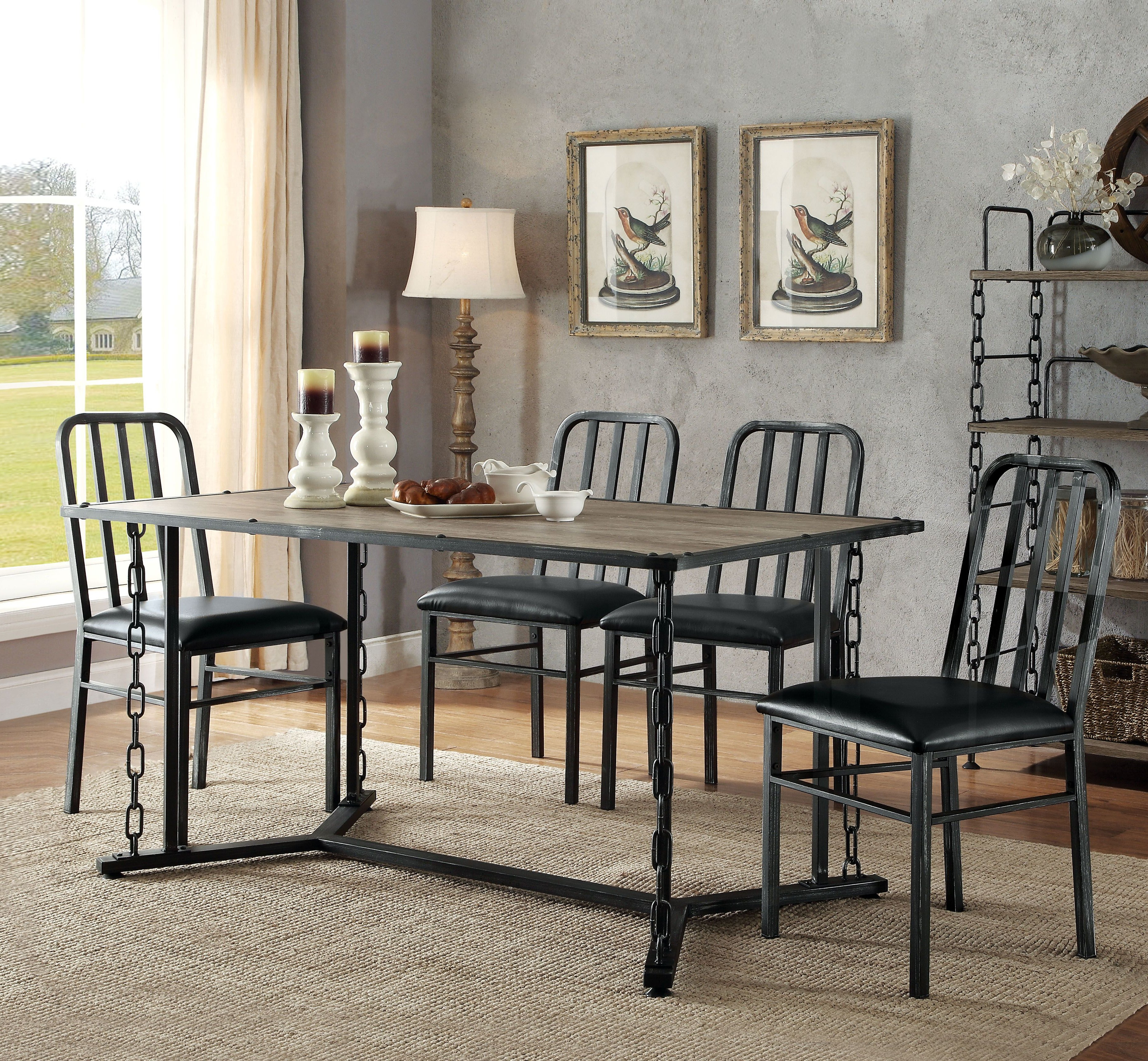 Virginia 5 Piece Dining Set Intended For 2018 Ganya 5 Piece Dining Sets (View 15 of 20)