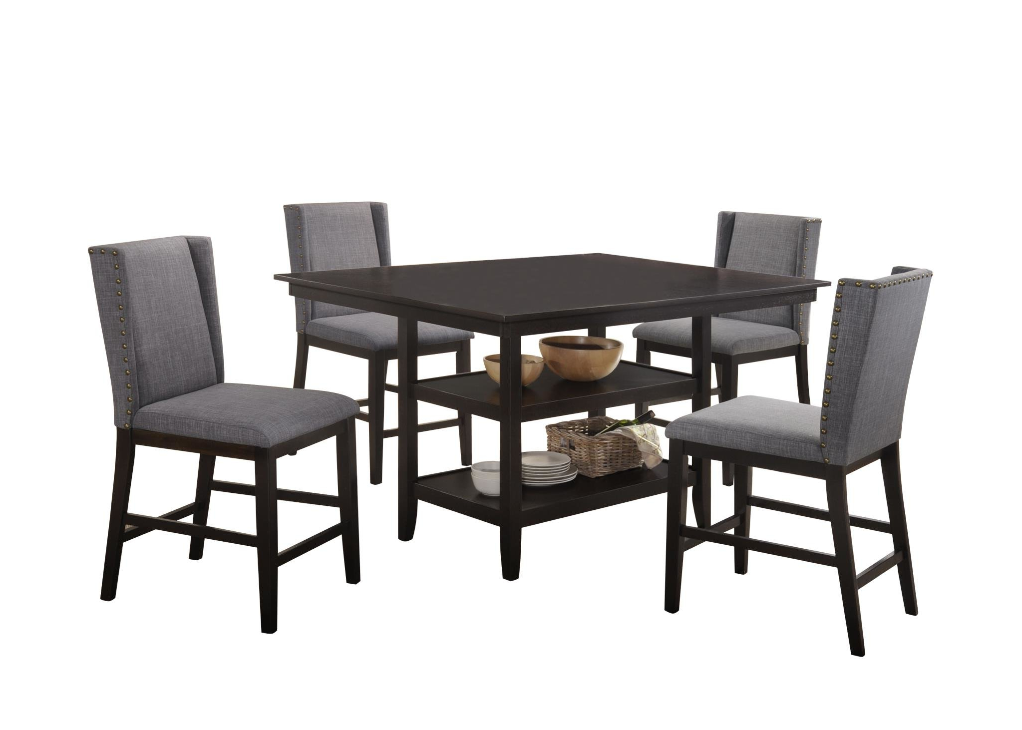 Wallach 5 Piece Pub Table Set With Most Recent Telauges 5 Piece Dining Sets (View 20 of 20)