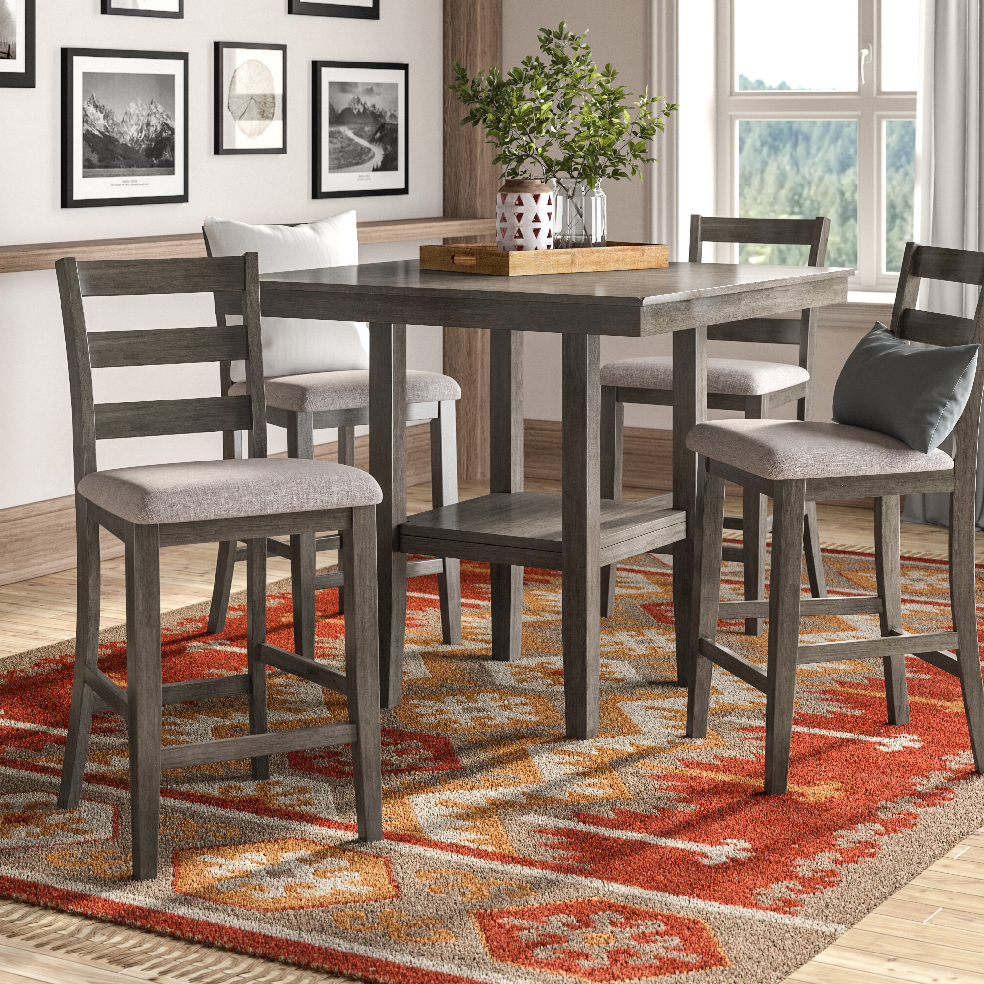 Wayfair For Partin 3 Piece Dining Sets (View 9 of 20)