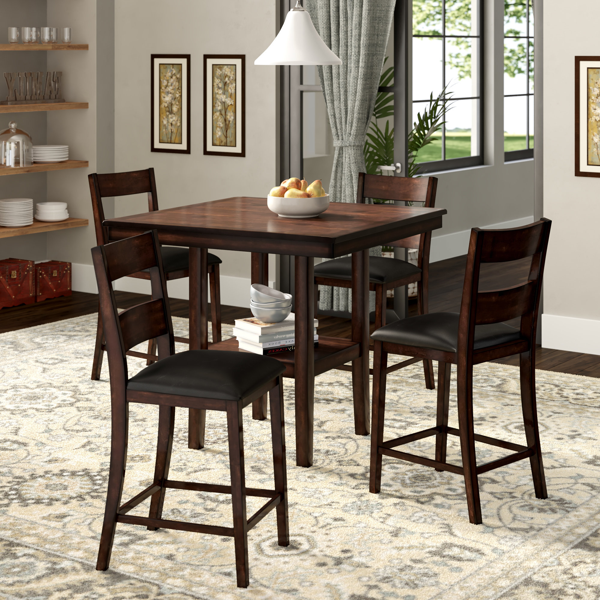 Wayfair Inside Most Current Castellanos Modern 5 Piece Counter Height Dining Sets (View 18 of 20)