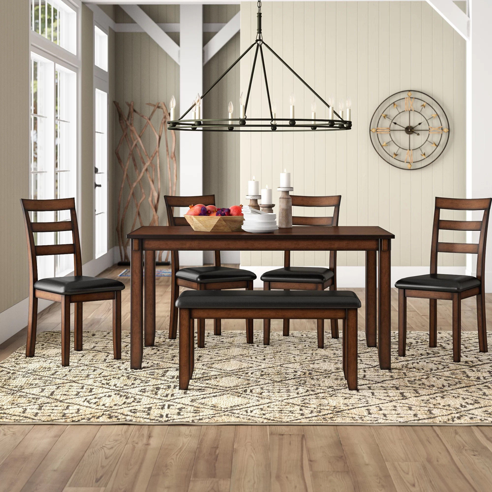 Wayfair With Rarick 5 Piece Solid Wood Dining Sets (Set Of 5) (View 20 of 20)