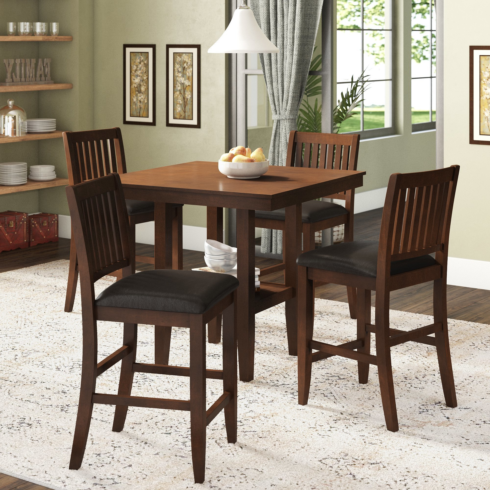 Well Known 5 Piece Dining Sets Within Chippewa 5 Piece Dining Set (View 12 of 20)