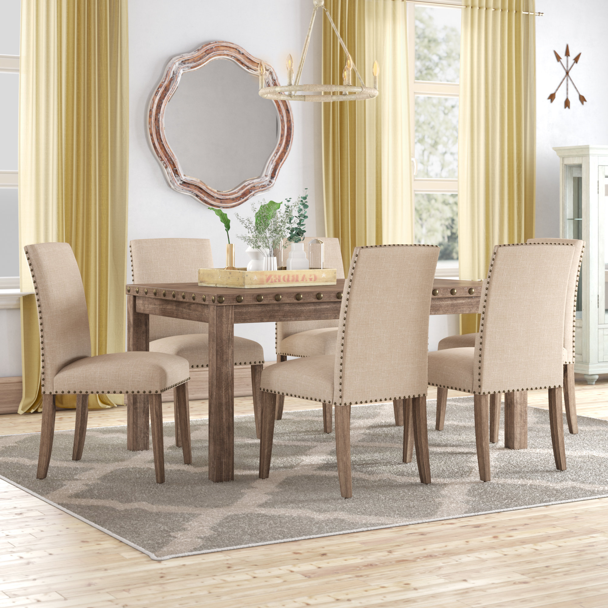 Well Known Autberry 5 Piece Dining Sets Throughout Details About Gracie Oaks Mach 7 Piece Solid Wood Dining Set (View 17 of 20)