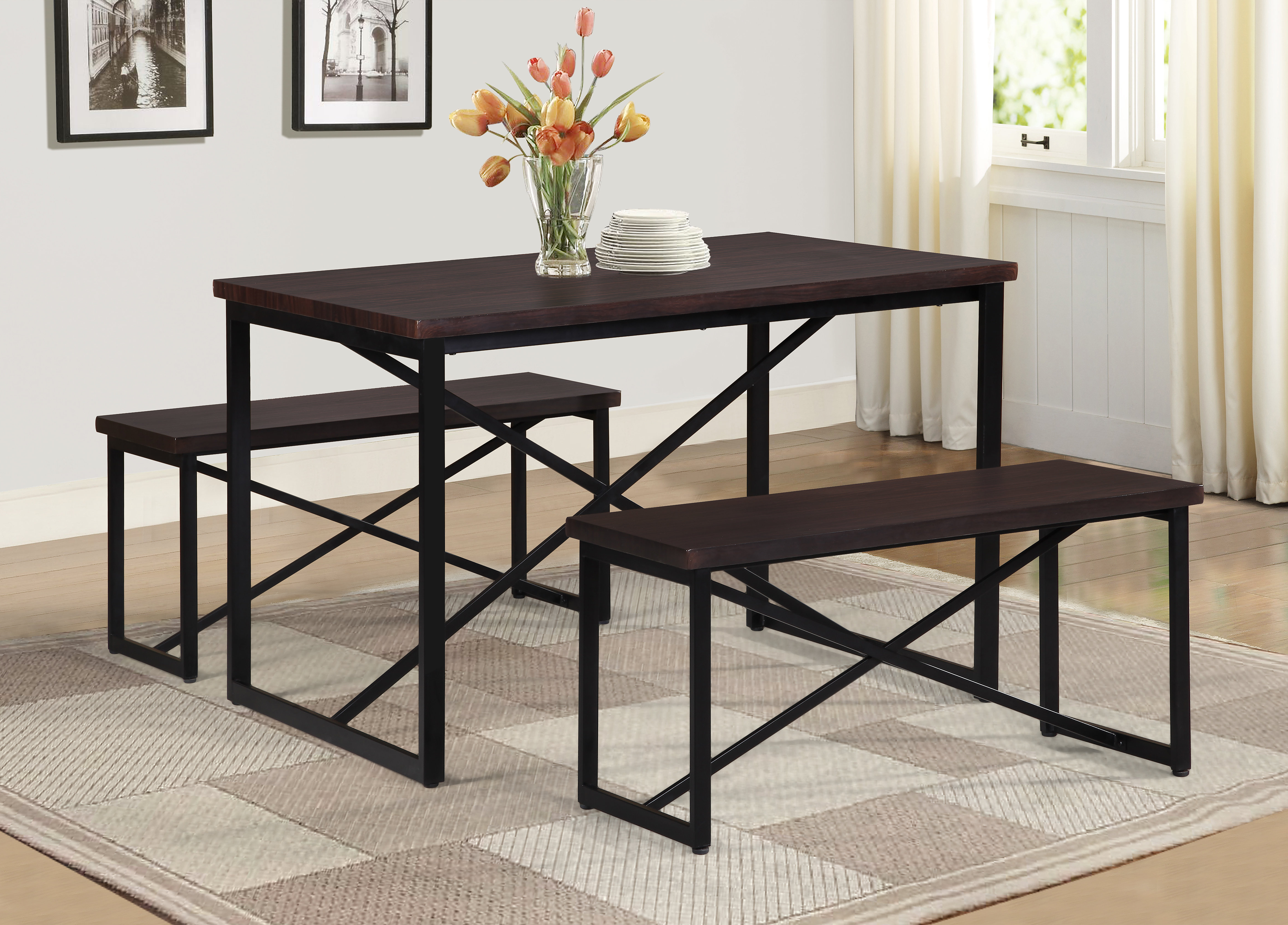 Well Known Bearden 3 Piece Dining Set Throughout Rossiter 3 Piece Dining Sets (View 20 of 20)