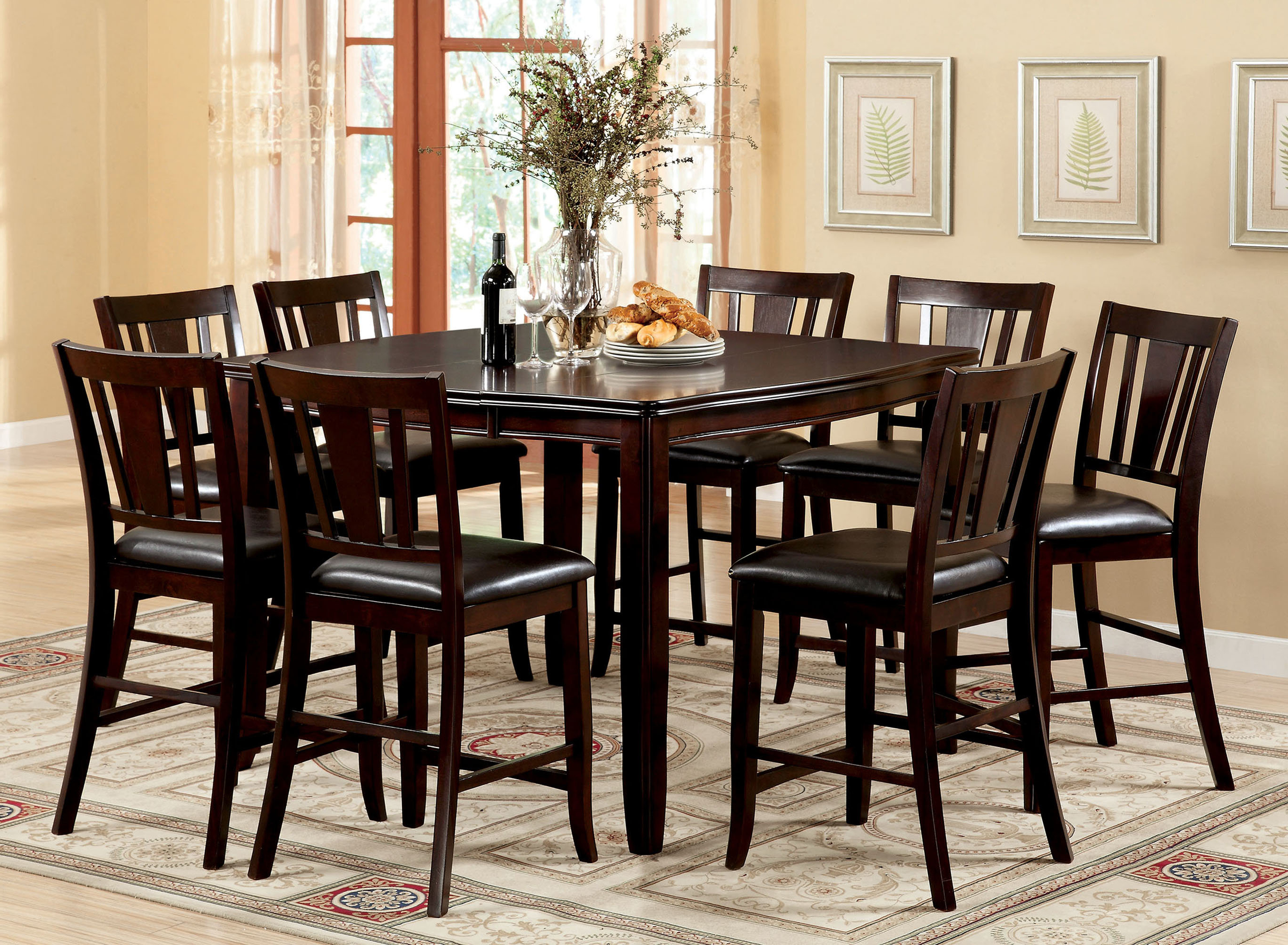 Well Known Biggs 5 Piece Counter Height Solid Wood Dining Sets (set Of 5) Within Fritz Jimmy 9 Piece Counter Height Dining Set (View 6 of 20)