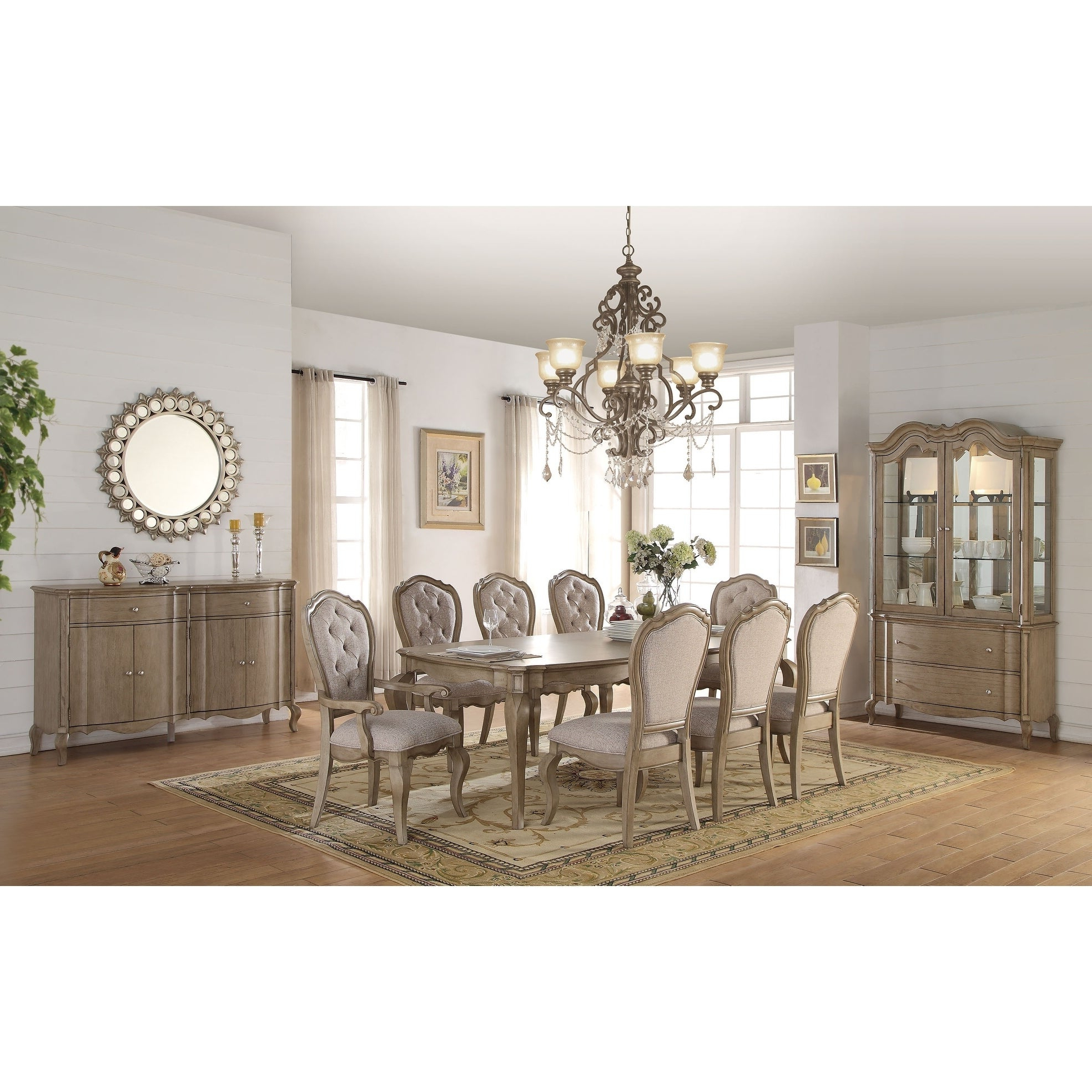 Well Known Chelmsford 3 Piece Dining Sets In Acme Chelmsford Dining Table, Antique Taupe (View 19 of 20)