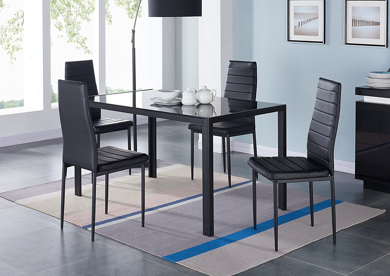 Well Known Compact 5 Piece Dining Set Intended For Tavarez 5 Piece Dining Sets (View 16 of 20)