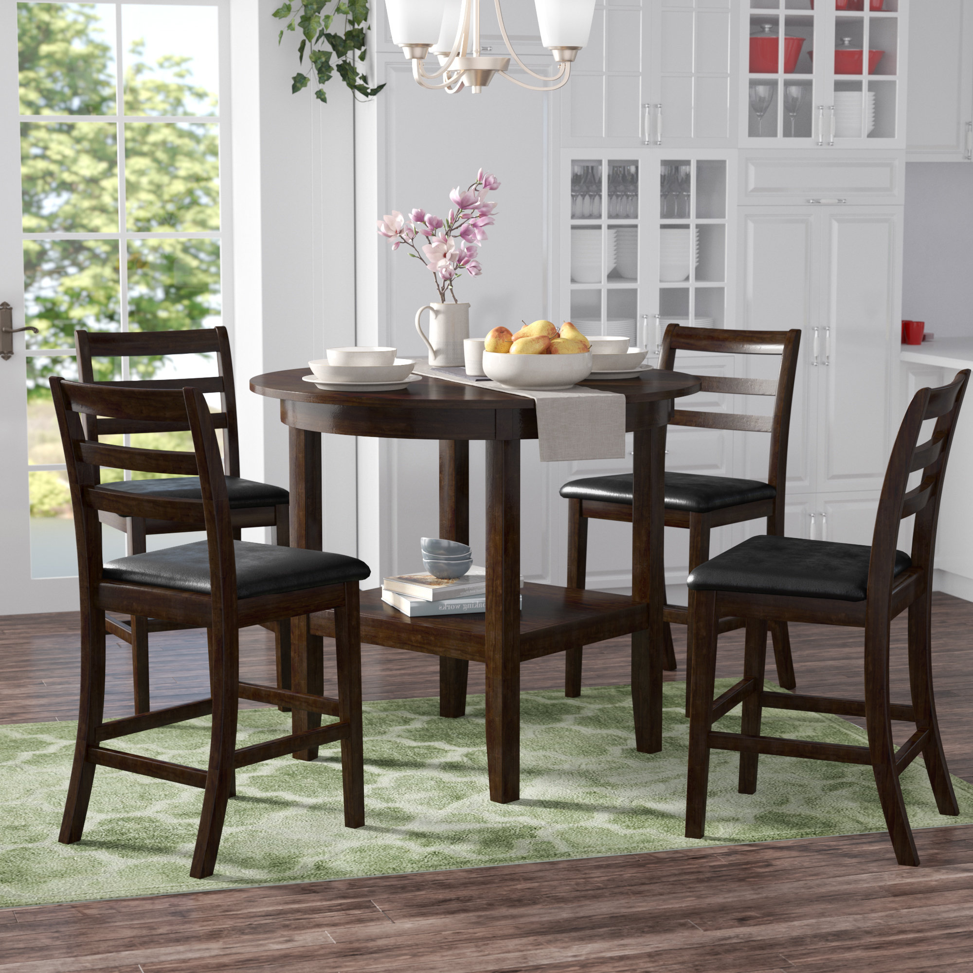 Well Known Denzel 5 Piece Counter Height Breakfast Nook Dining Sets Within Gosselin 5 Piece Counter Height Dining Set (View 8 of 20)
