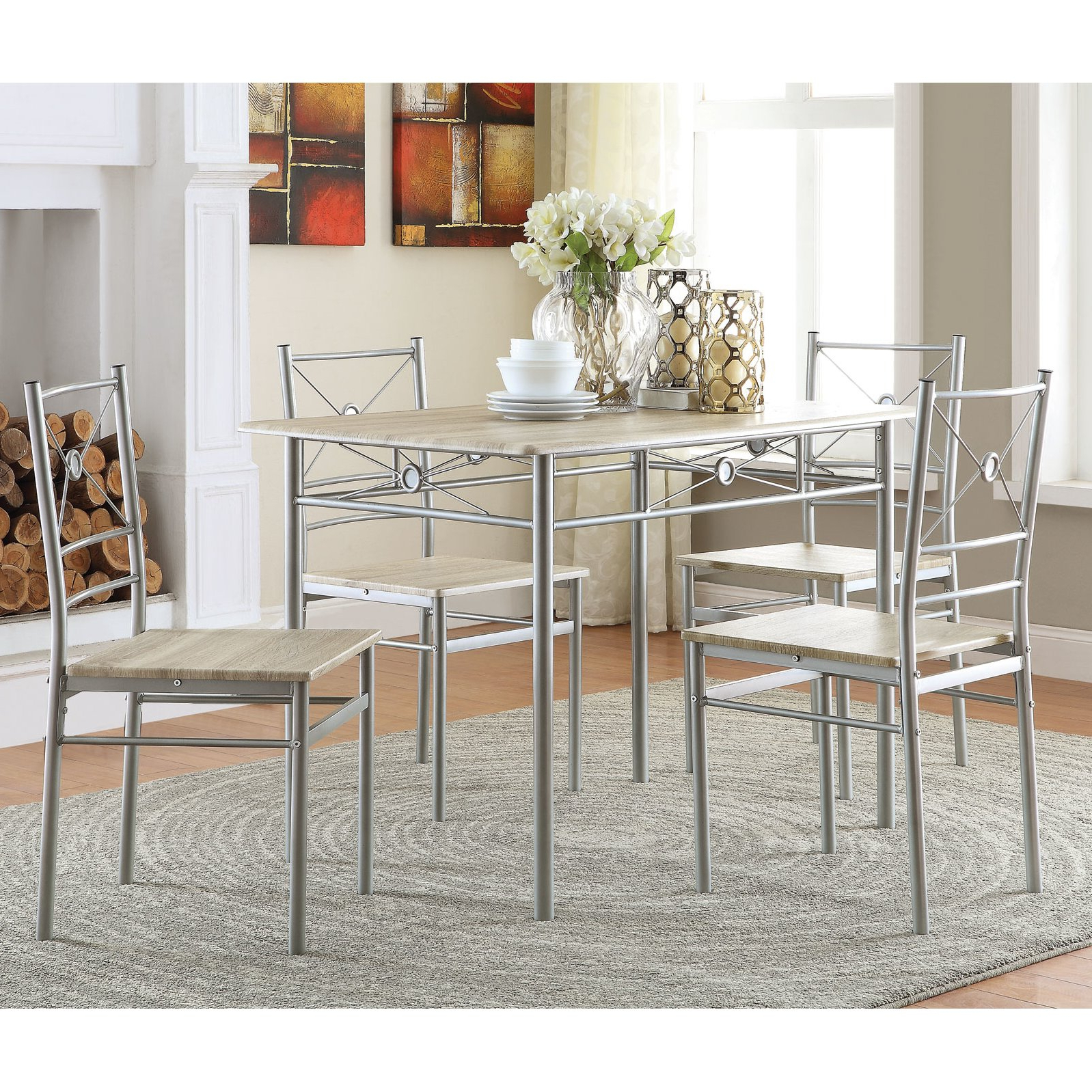 Well Known Details About Kieffer 5 Piece Dining Table And Chairs Beautiful Kitchen  Room Furniture Set Pertaining To Kieffer 5 Piece Dining Sets (View 17 of 20)