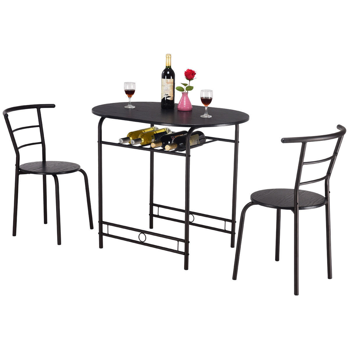 Well Known Hassinger 3 Piece Dining Set Within Honoria 3 Piece Dining Sets (View 2 of 20)
