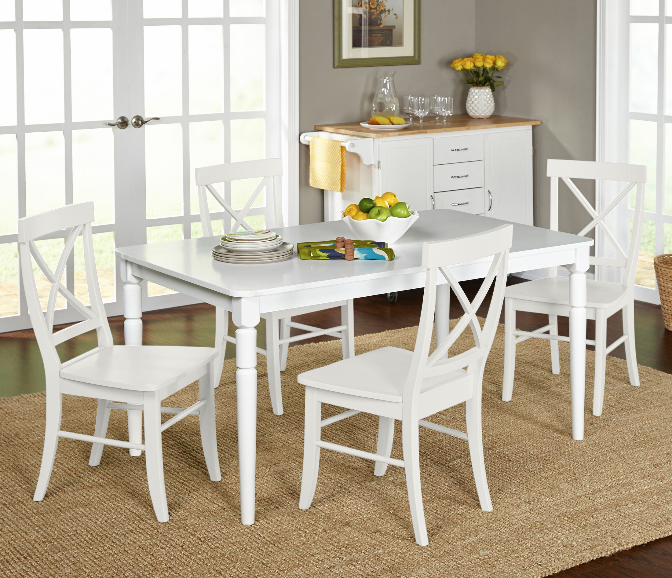 Well Known Linette 5 Piece Dining Table Sets Throughout Brookwood 5 Piece Dining Set (View 7 of 20)