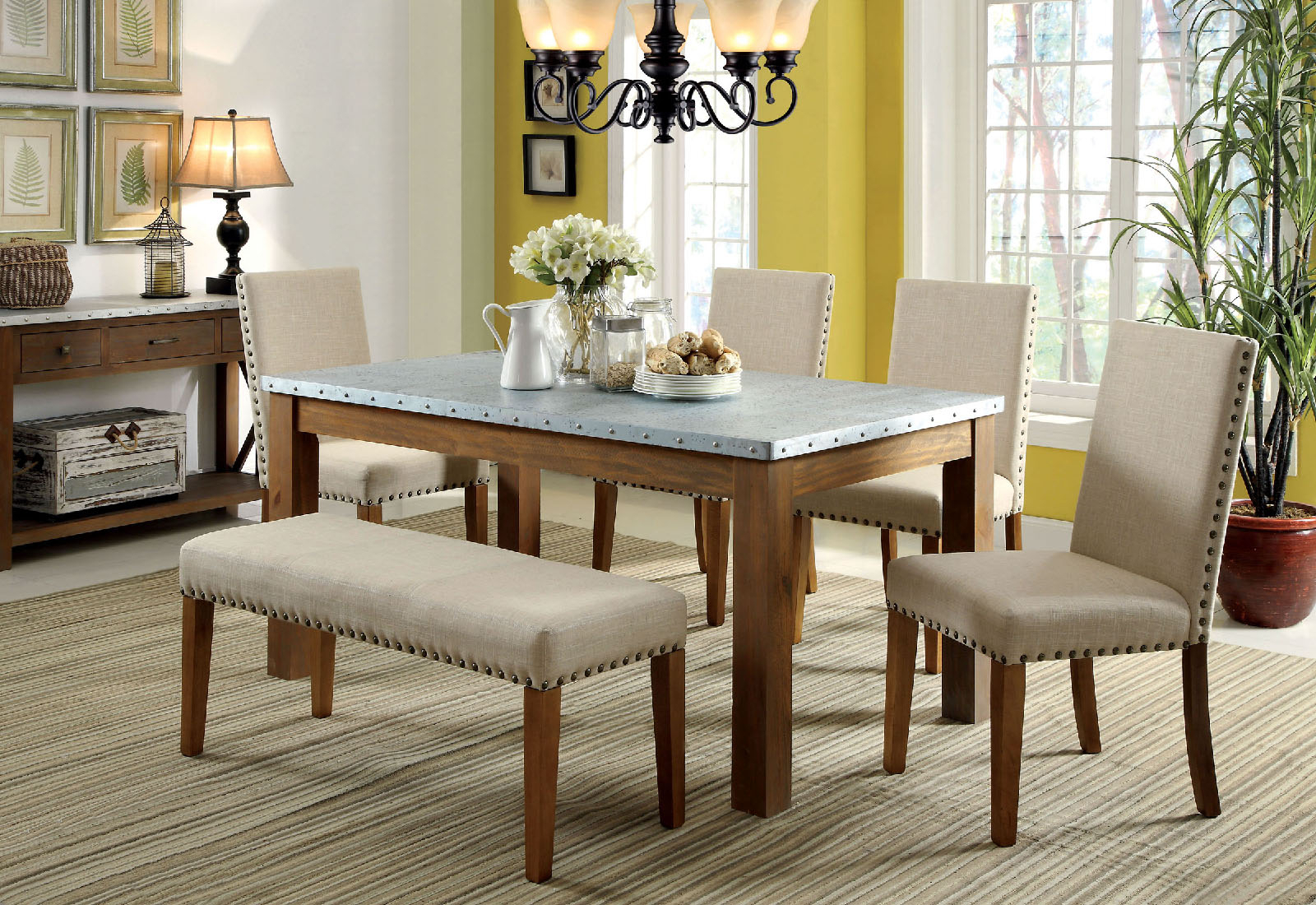 Well Known Maloney 3 Piece Breakfast Nook Dining Sets Within Dining Set Furniture Style Bench Timber Oak White Argos Seats (View 11 of 20)