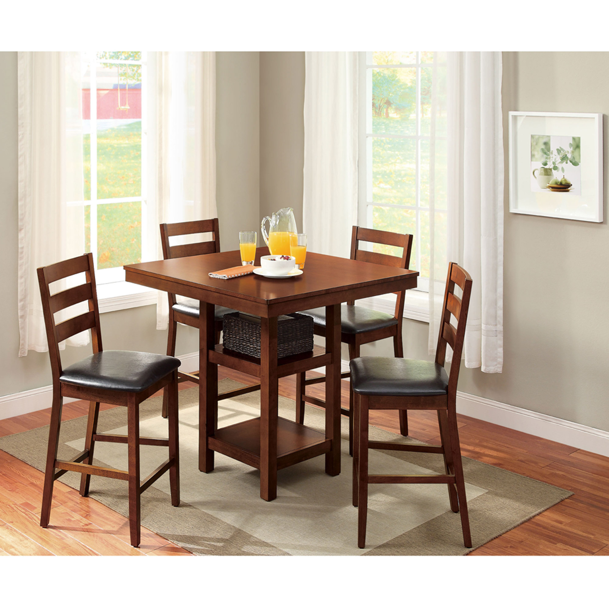 Well Known Metropolitan 3 Piece Dining Set, Multiple Finishes Within Rossiter 3 Piece Dining Sets (View 18 of 20)