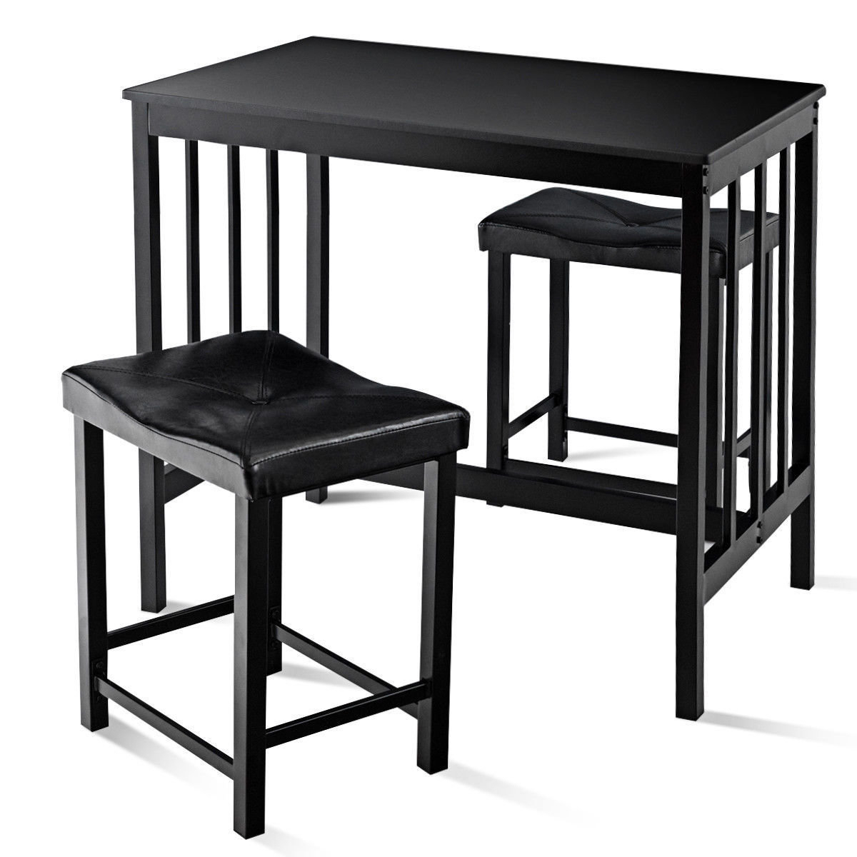 Well Known Miskell 3 Piece Dining Set Within Mizpah 3 Piece Counter Height Dining Sets (View 19 of 20)