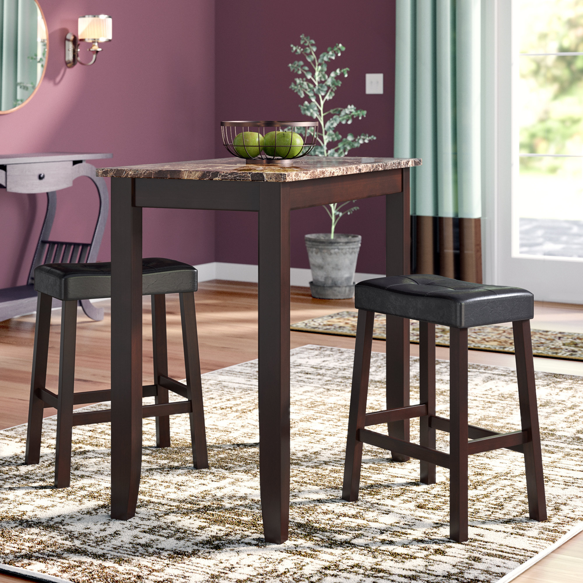 Well Known Morano 3 Piece Pub Table Set Regarding Hood Canal 3 Piece Dining Sets (View 18 of 20)