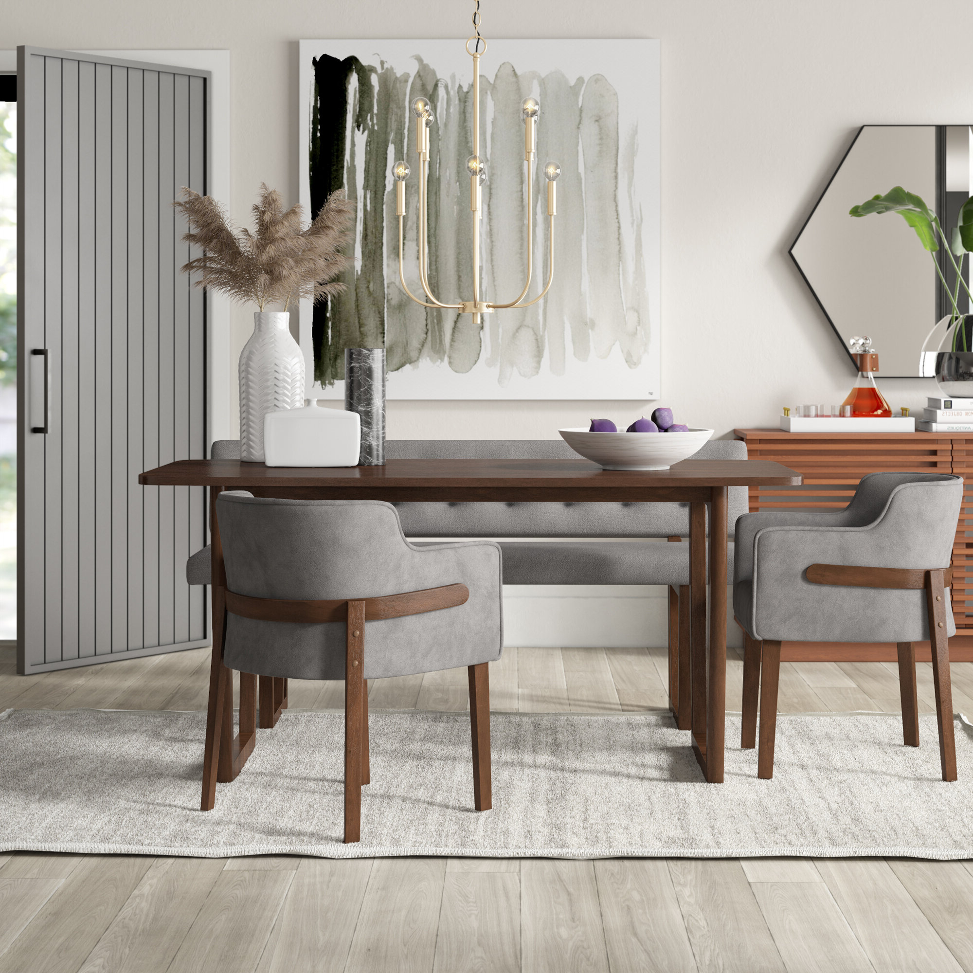 Well Known Mukai 5 Piece Dining Sets Within Mukai 4 Piece Dining Set (View 3 of 20)