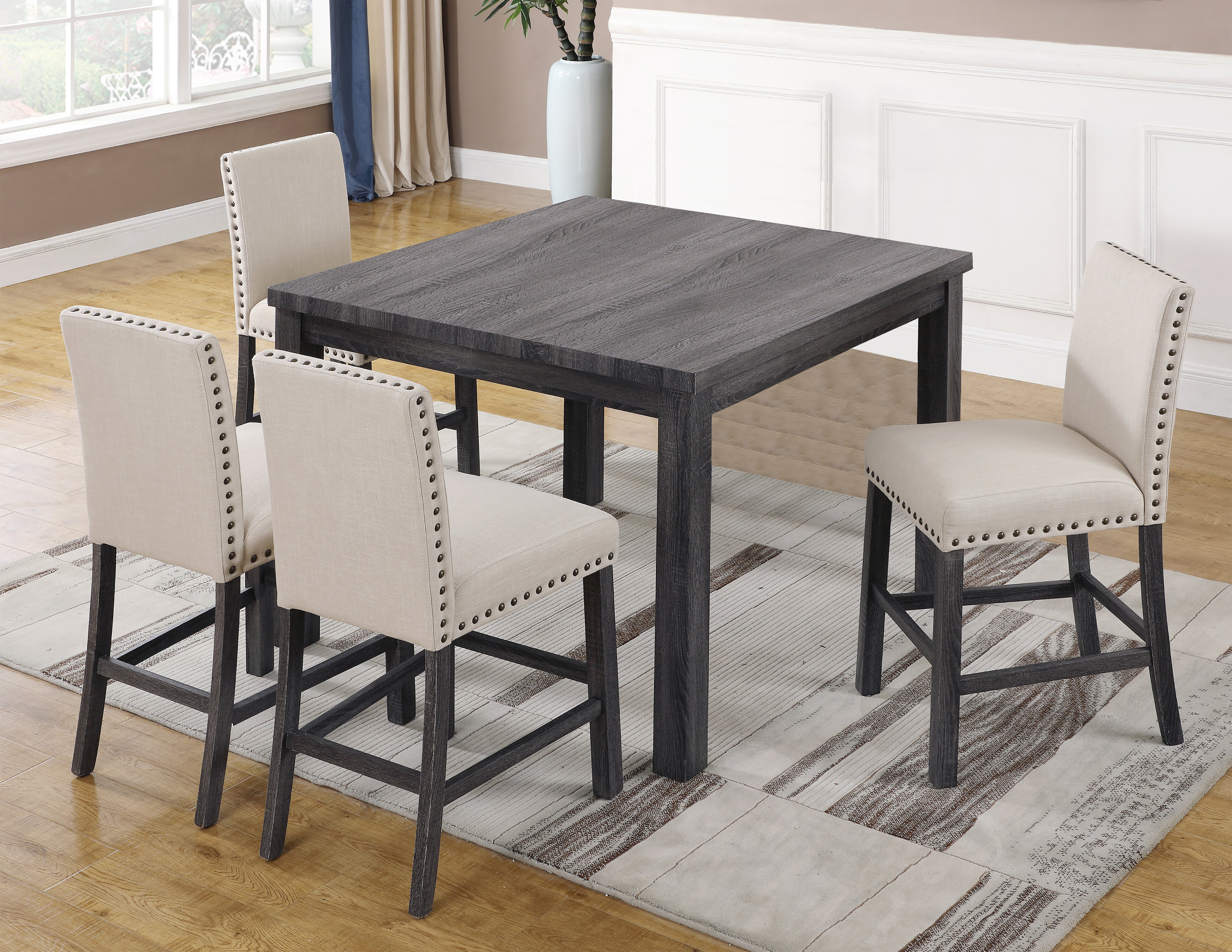 Well Known Ralston 5 Piece Counter Height Dining Set Within Queener 5 Piece Dining Sets (View 6 of 20)