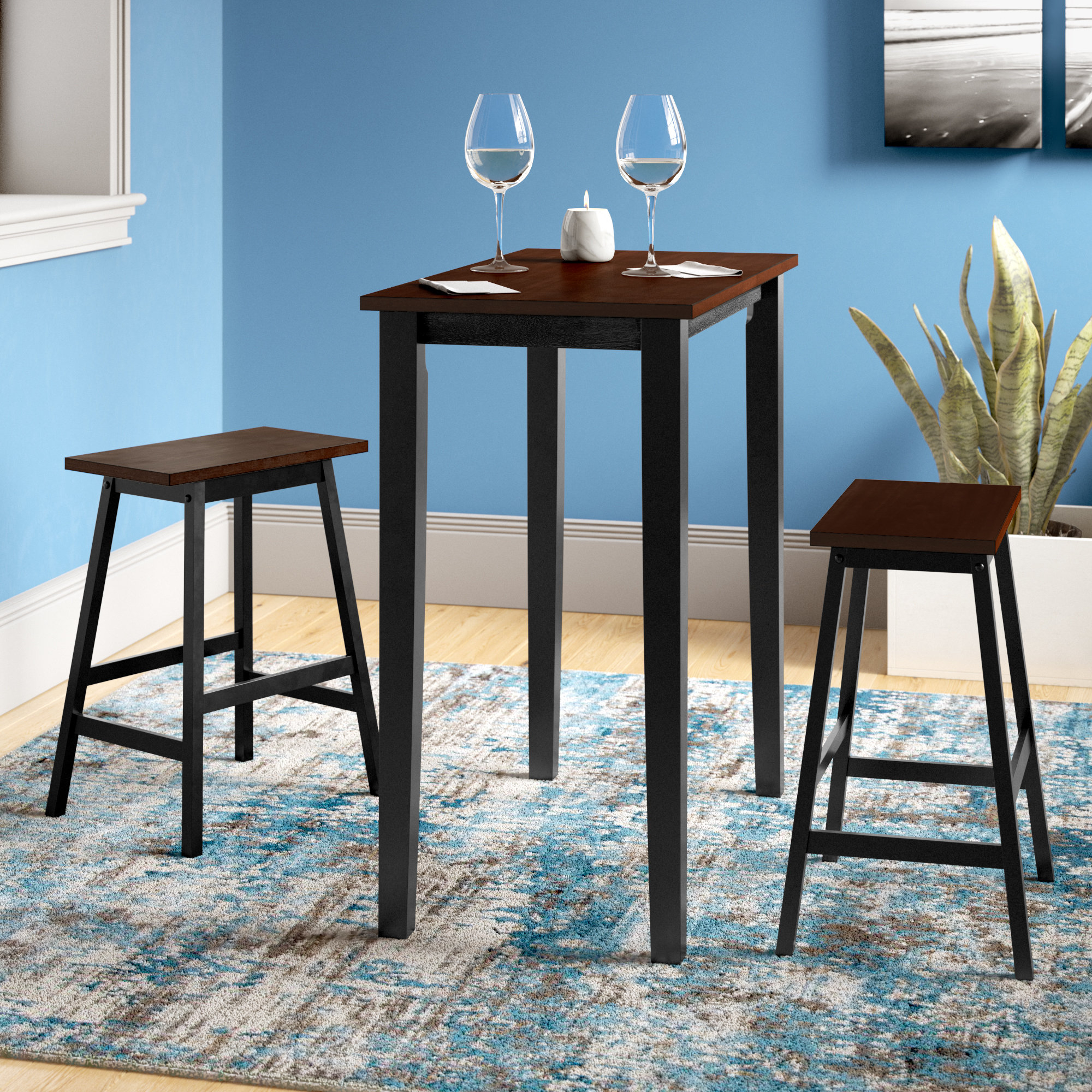 Well Known Ryker 3 Piece Dining Set Within Poynter 3 Piece Drop Leaf Dining Sets (View 16 of 20)