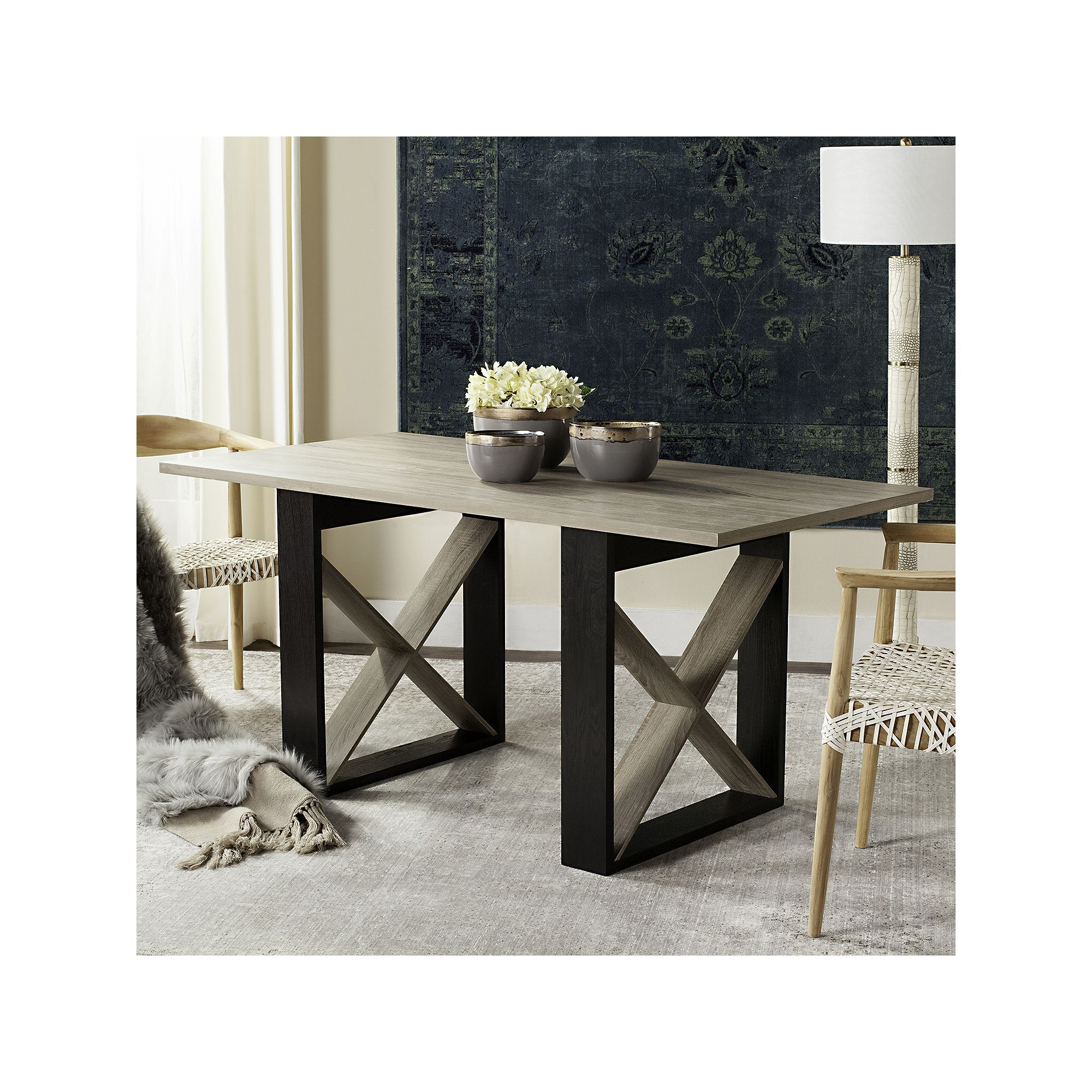 Well Known Safavieh Contemporary Modern Dining Table In  (View 15 of 20)