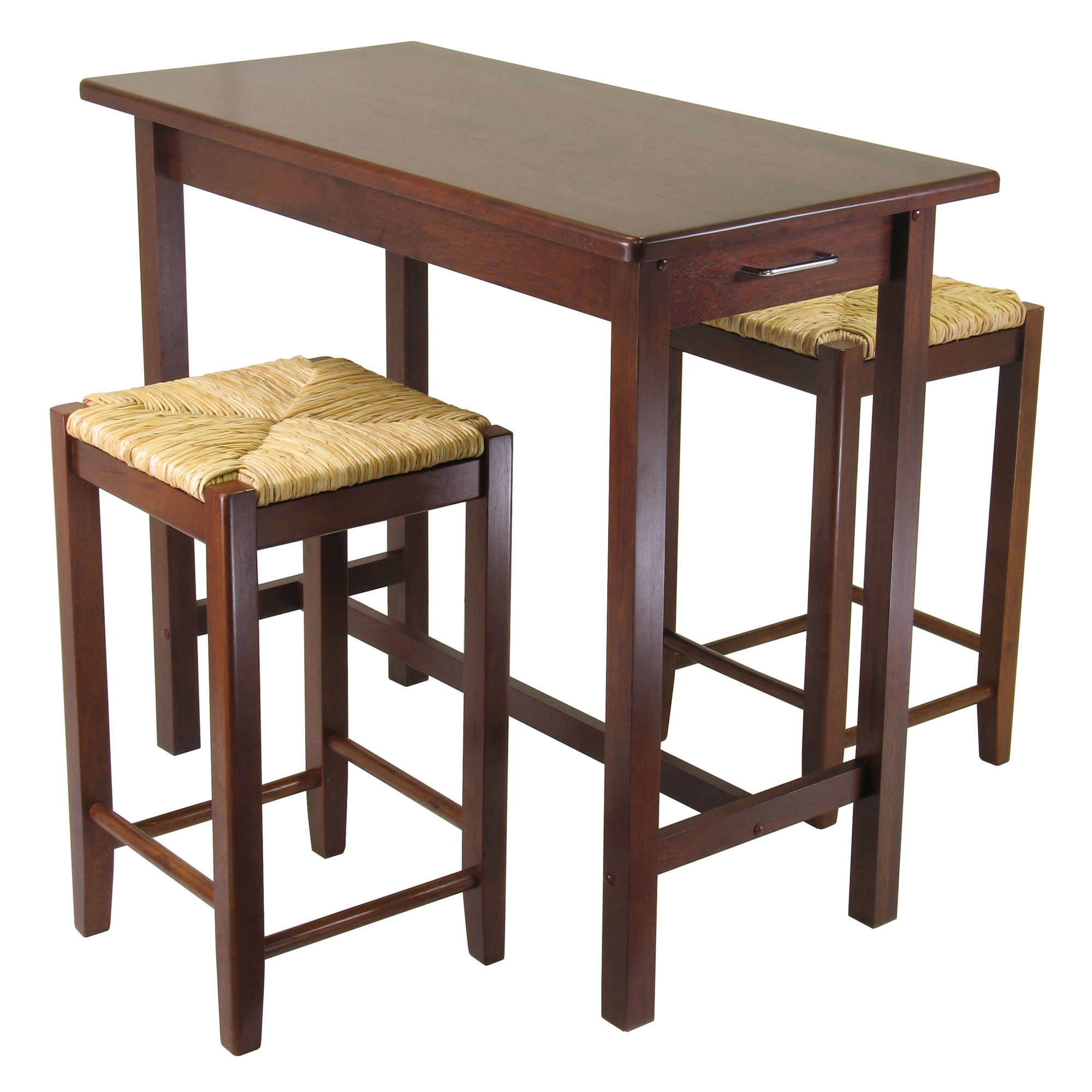 Well Known Winsome 3 Piece Counter Height Dining Set Regarding Bettencourt 3 Piece Counter Height Solid Wood Dining Sets (View 19 of 20)