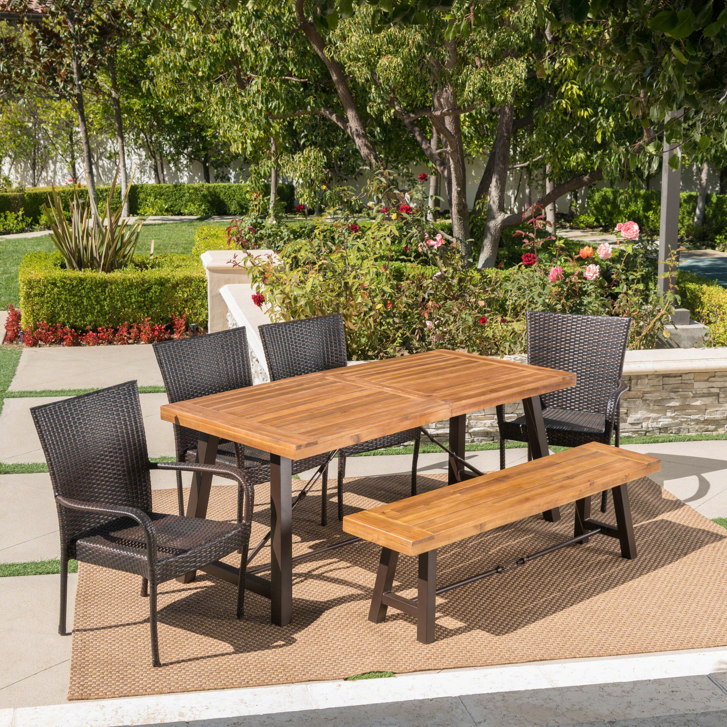 Well Liked Appleton Outdoor 6 Piece Dining Set Intended For Springfield 3 Piece Dining Sets (View 11 of 20)