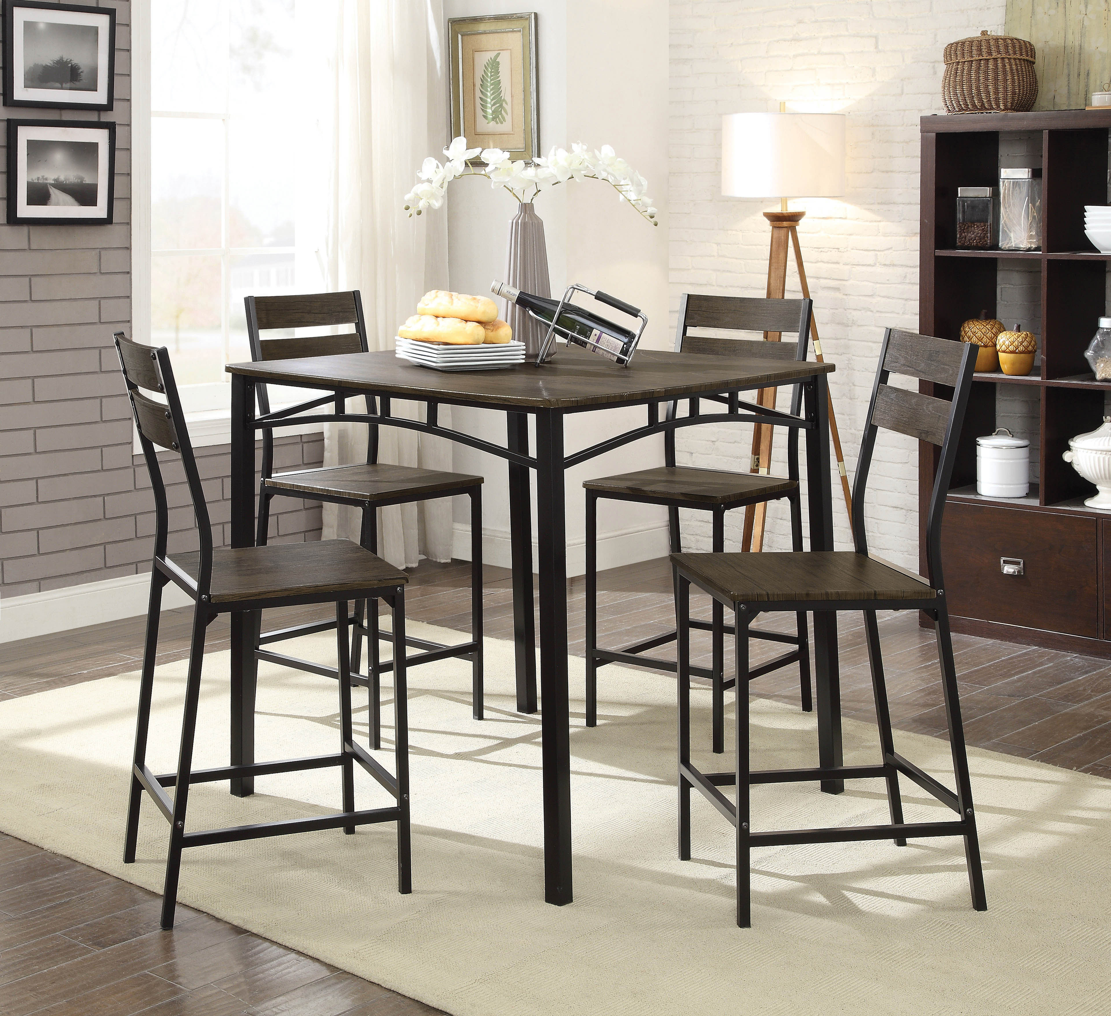 Well Liked Autberry 5 Piece Pub Table Set With Regard To Autberry 5 Piece Dining Sets (View 2 of 20)