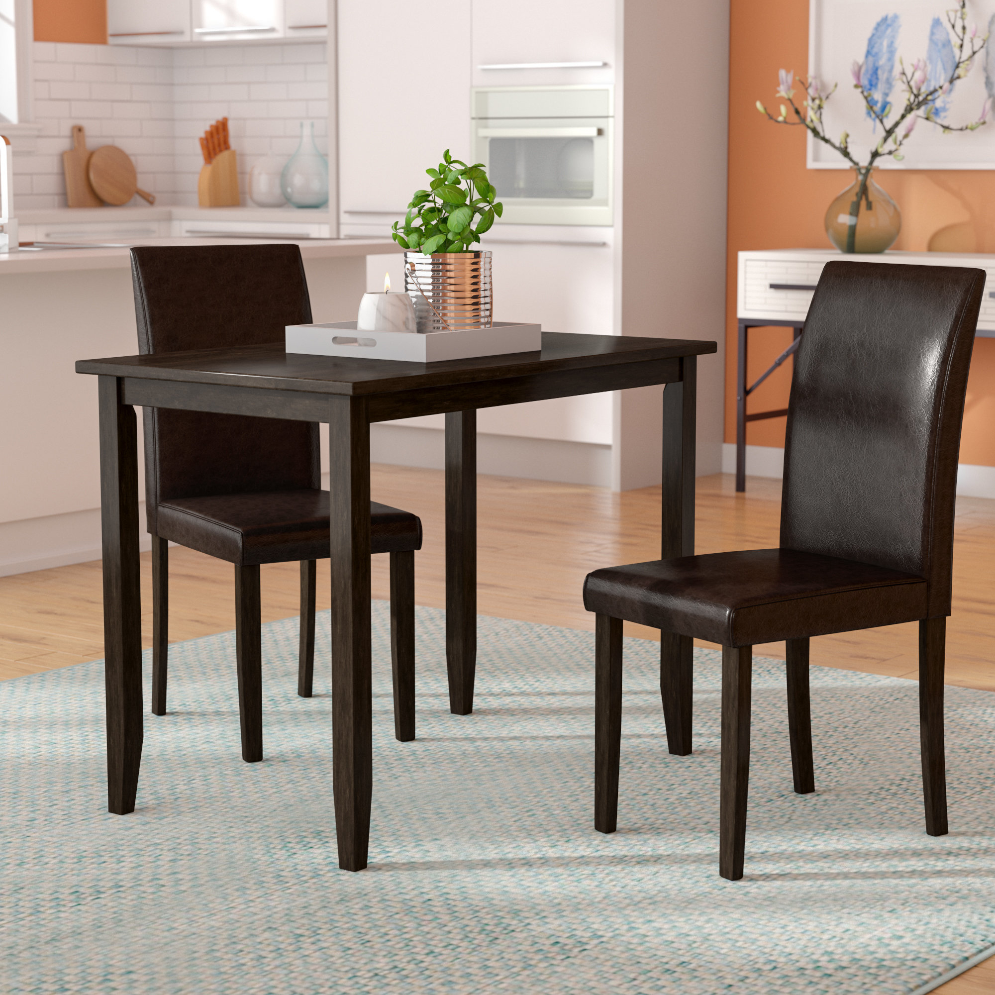 Featured Photo of Baillie 3 Piece Dining Sets