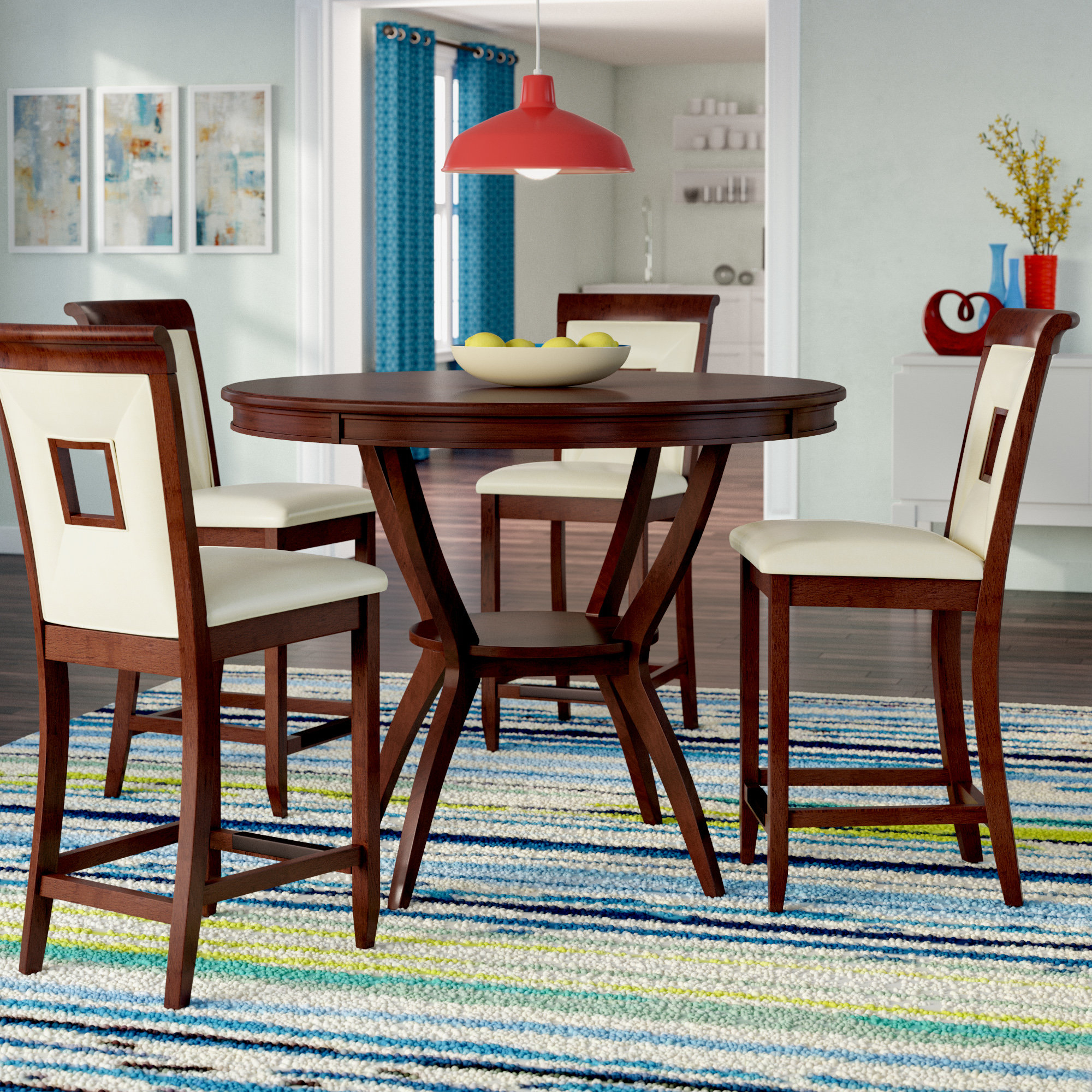 Well Liked Denzel 5 Piece Counter Height Breakfast Nook Dining Sets Inside Deherrera 5 Piece Counter Height Dining Set (View 10 of 20)
