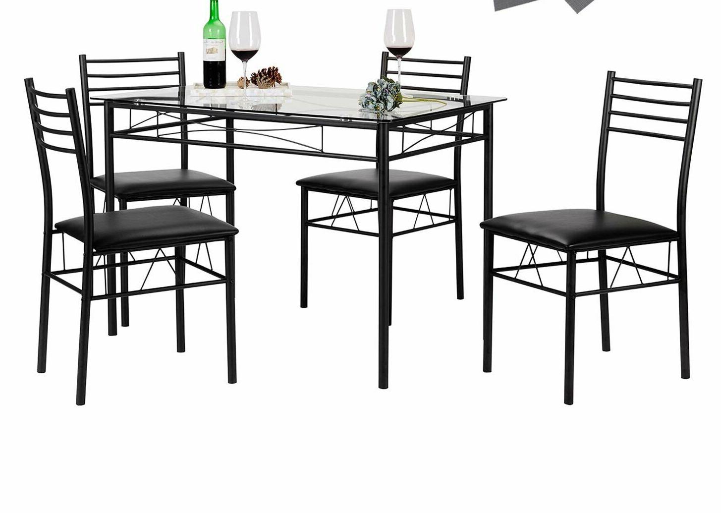 Featured Photo of Lightle 5 Piece Breakfast Nook Dining Sets