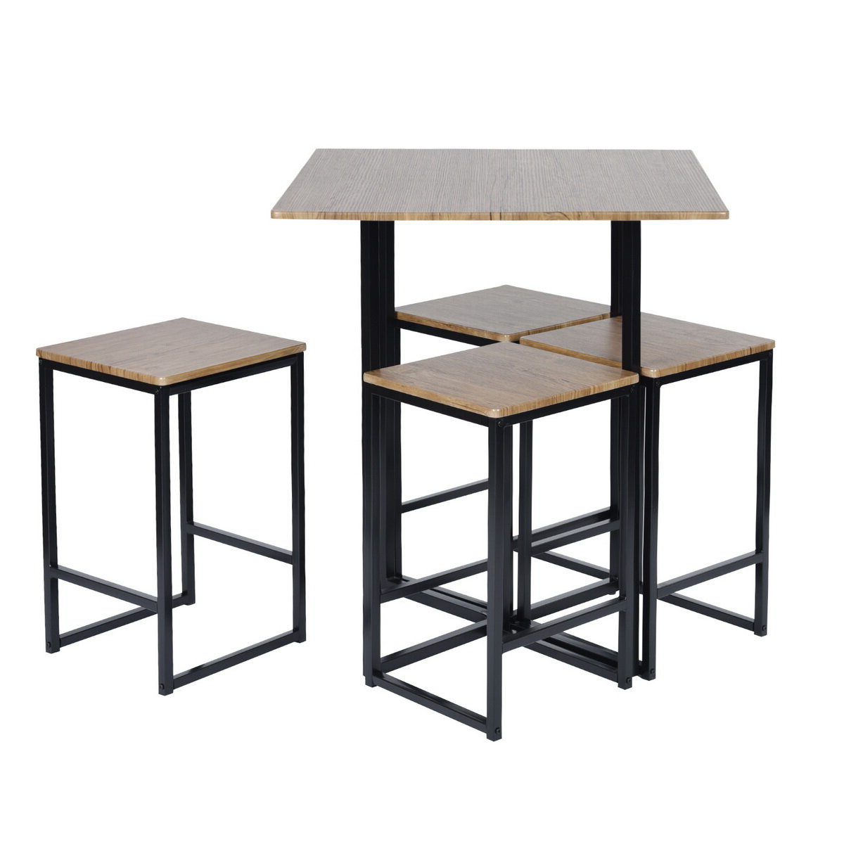 Well Liked Malave 5 Piece Pub Table Set With Regard To Denzel 5 Piece Counter Height Breakfast Nook Dining Sets (View 6 of 20)